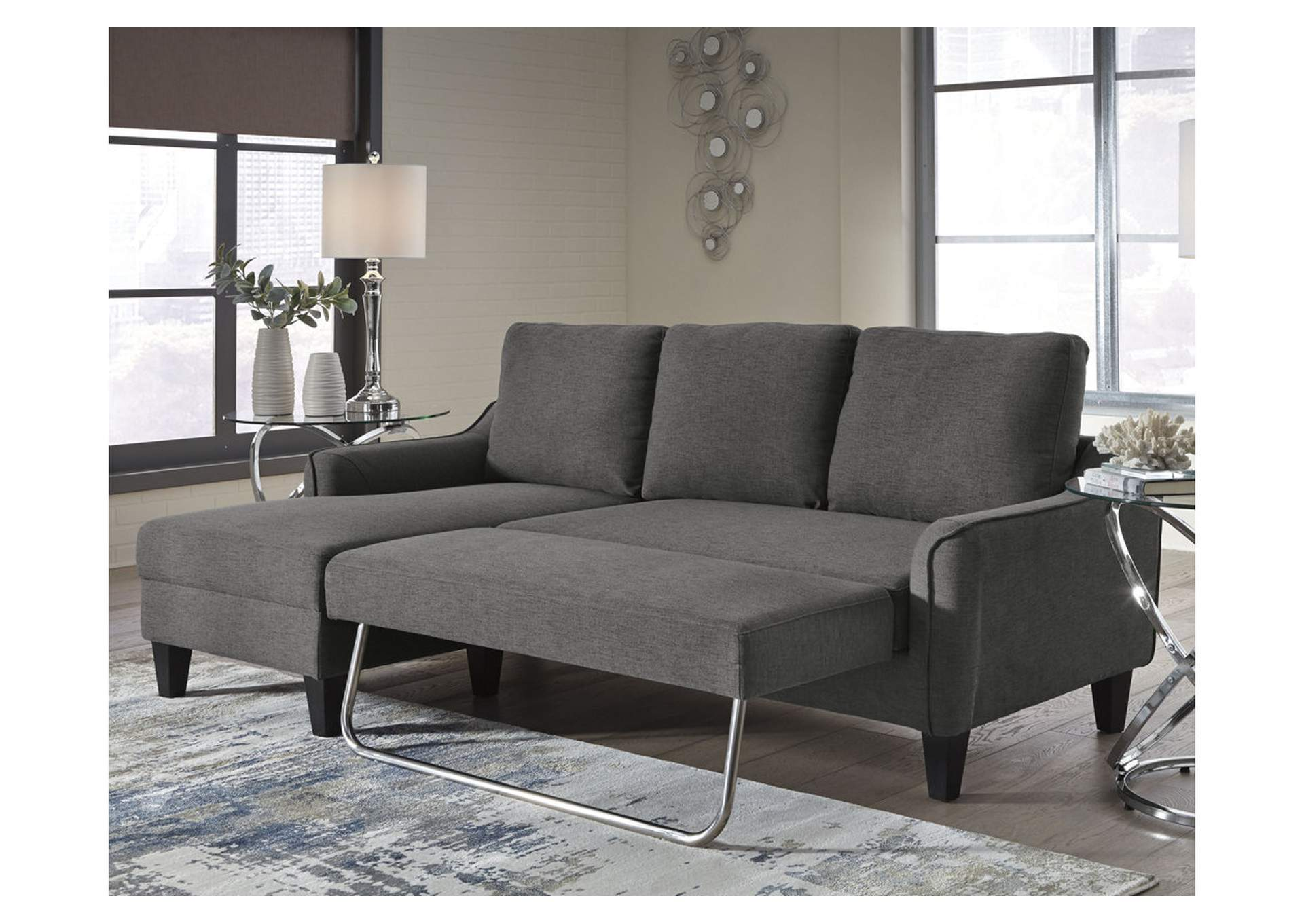 Jarreau Gray Queen Sleeper Sofa,Signature Design By Ashley