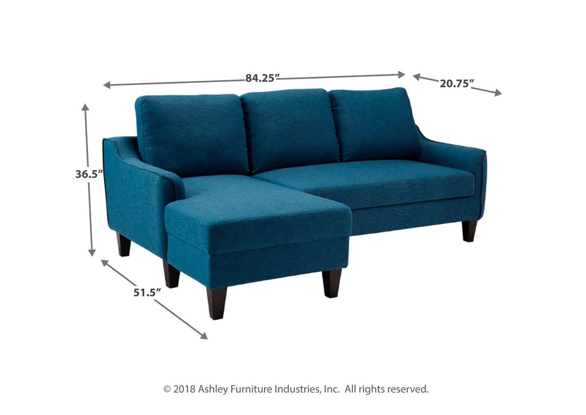 Jarreau Blue Sofa Chaise Sleeper,Signature Design By Ashley