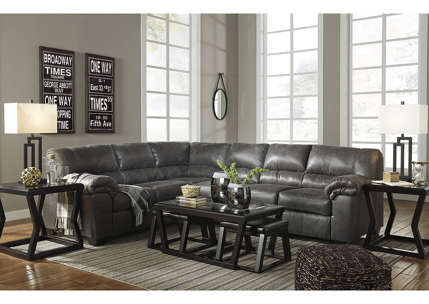 Bladen Slate RAF Extended Sectional,Signature Design By Ashley