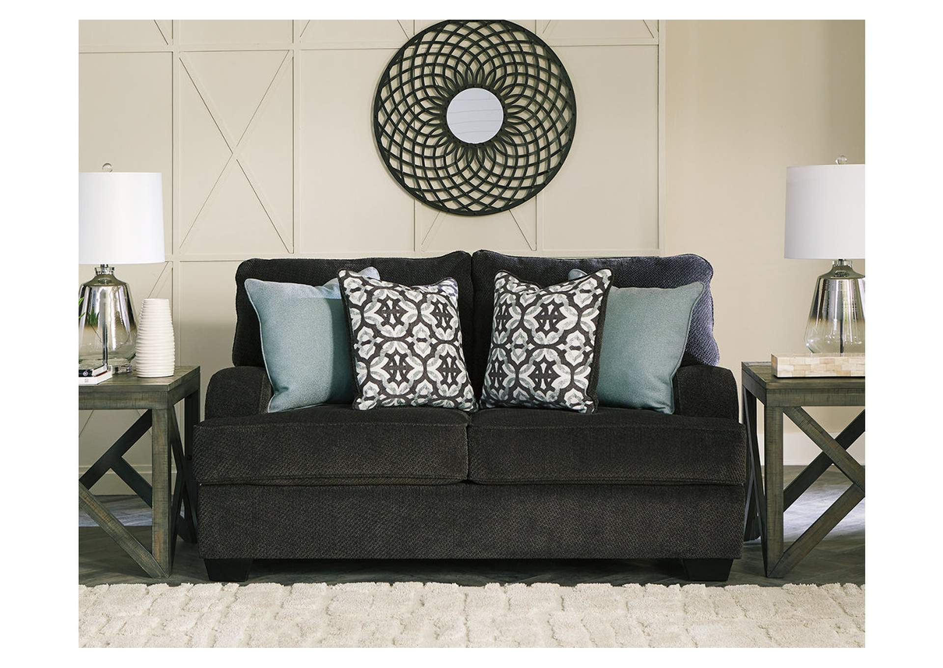 Charenton Charcoal Loveseat,Benchcraft