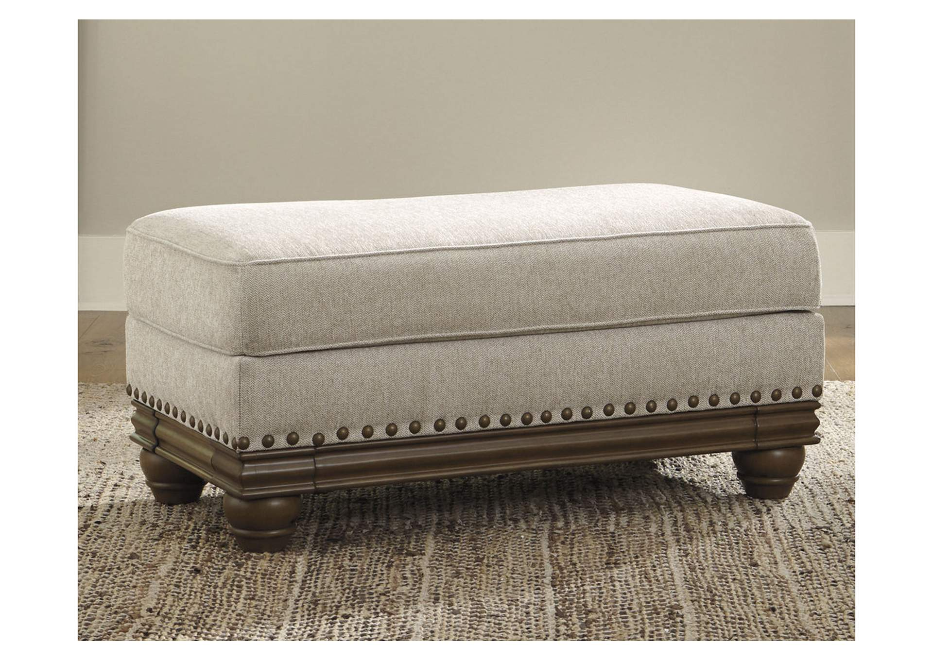Harleson Wheat Ottoman,Signature Design By Ashley
