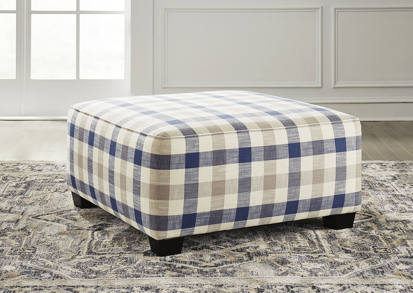 Meggett Nautical Oversized Accent Ottoman,Benchcraft
