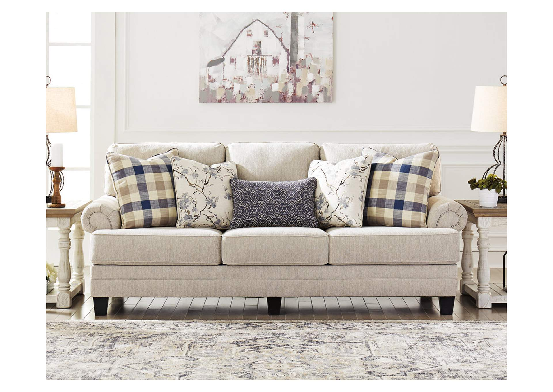 Meggett Linen Queen Sofa Sleeper,Benchcraft