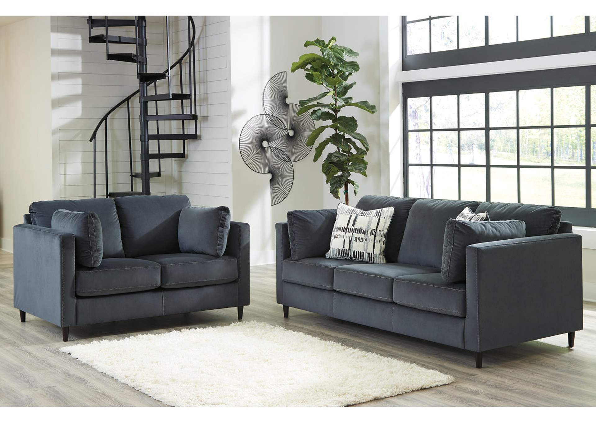 Kennewick Shadow Sofa and Loveseat,Signature Design By Ashley