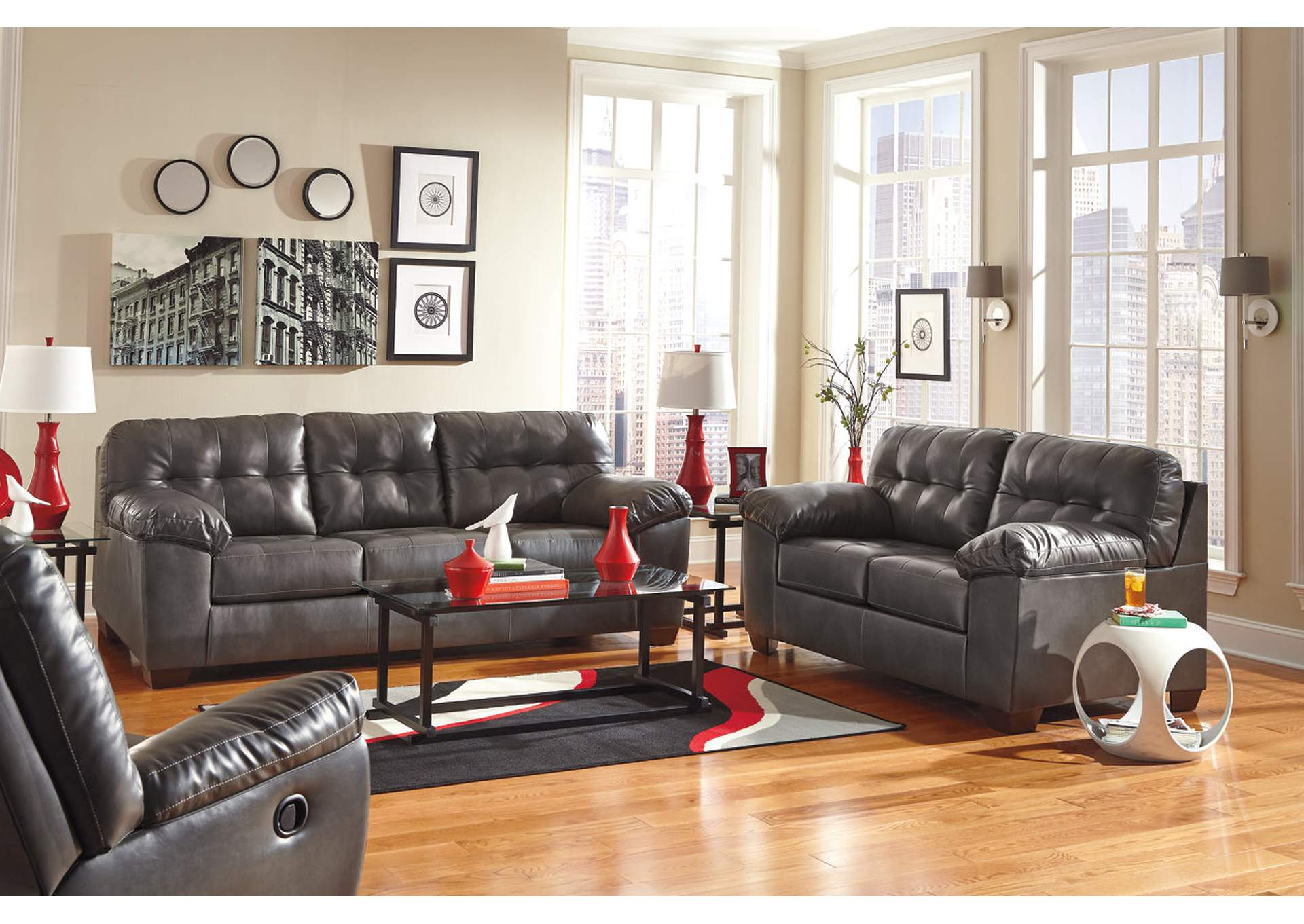 Alliston DuraBlend Gray Queen Sofa Sleeper,Signature Design By Ashley