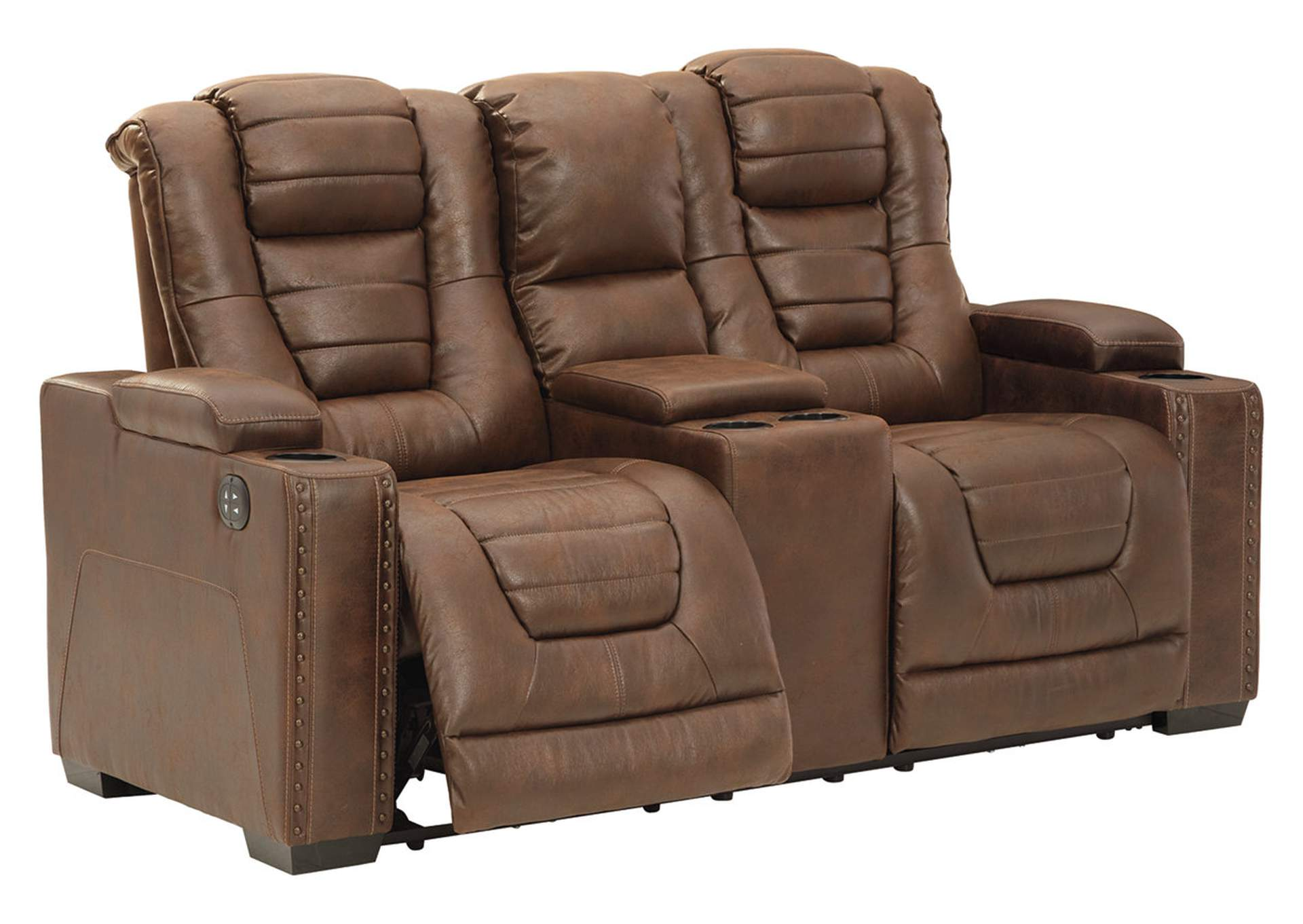 Owner's Box Power Reclining Loveseat with Console,Signature Design By Ashley