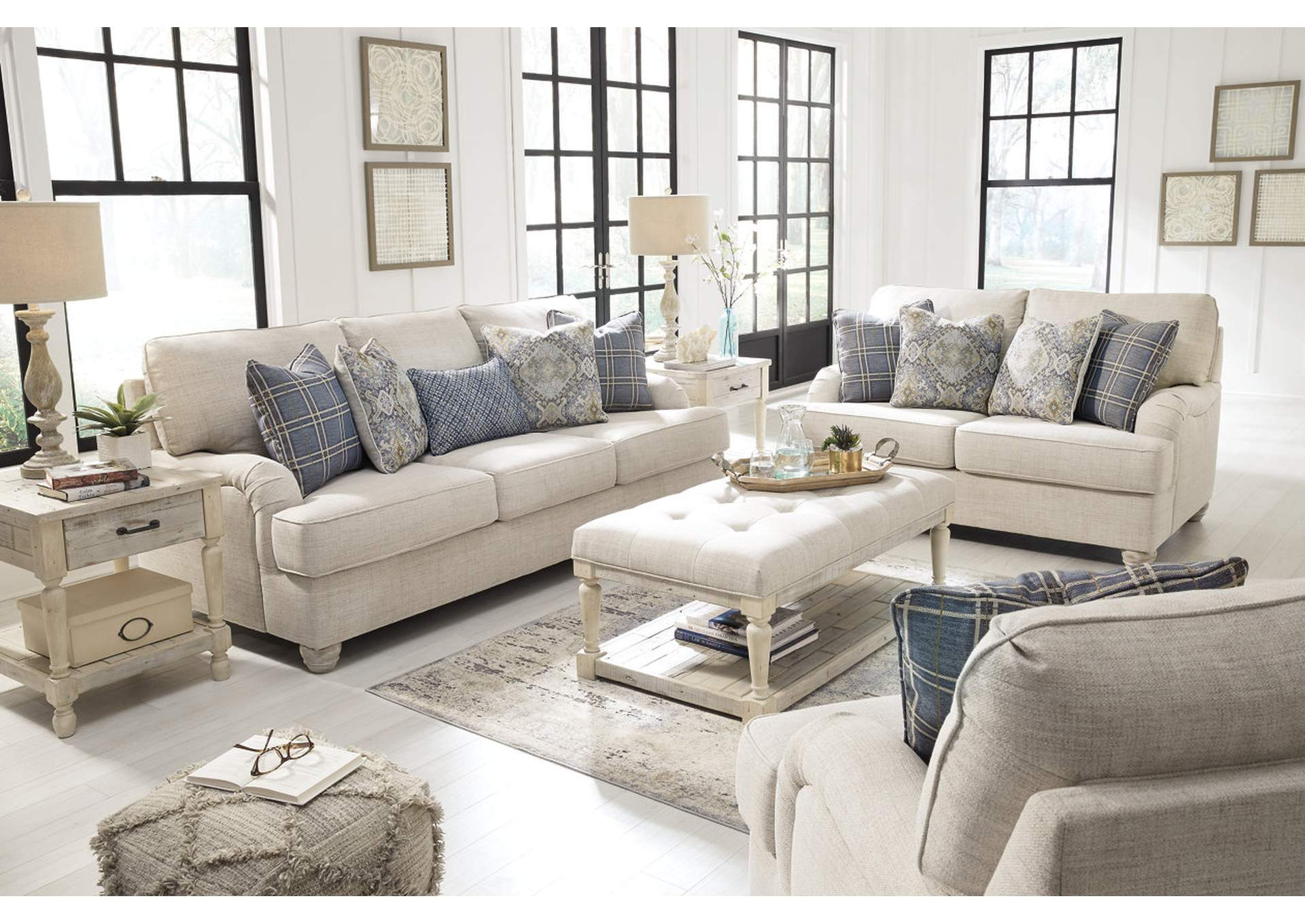 Traemore Linen Queen Sofa Sleeper,Signature Design By Ashley