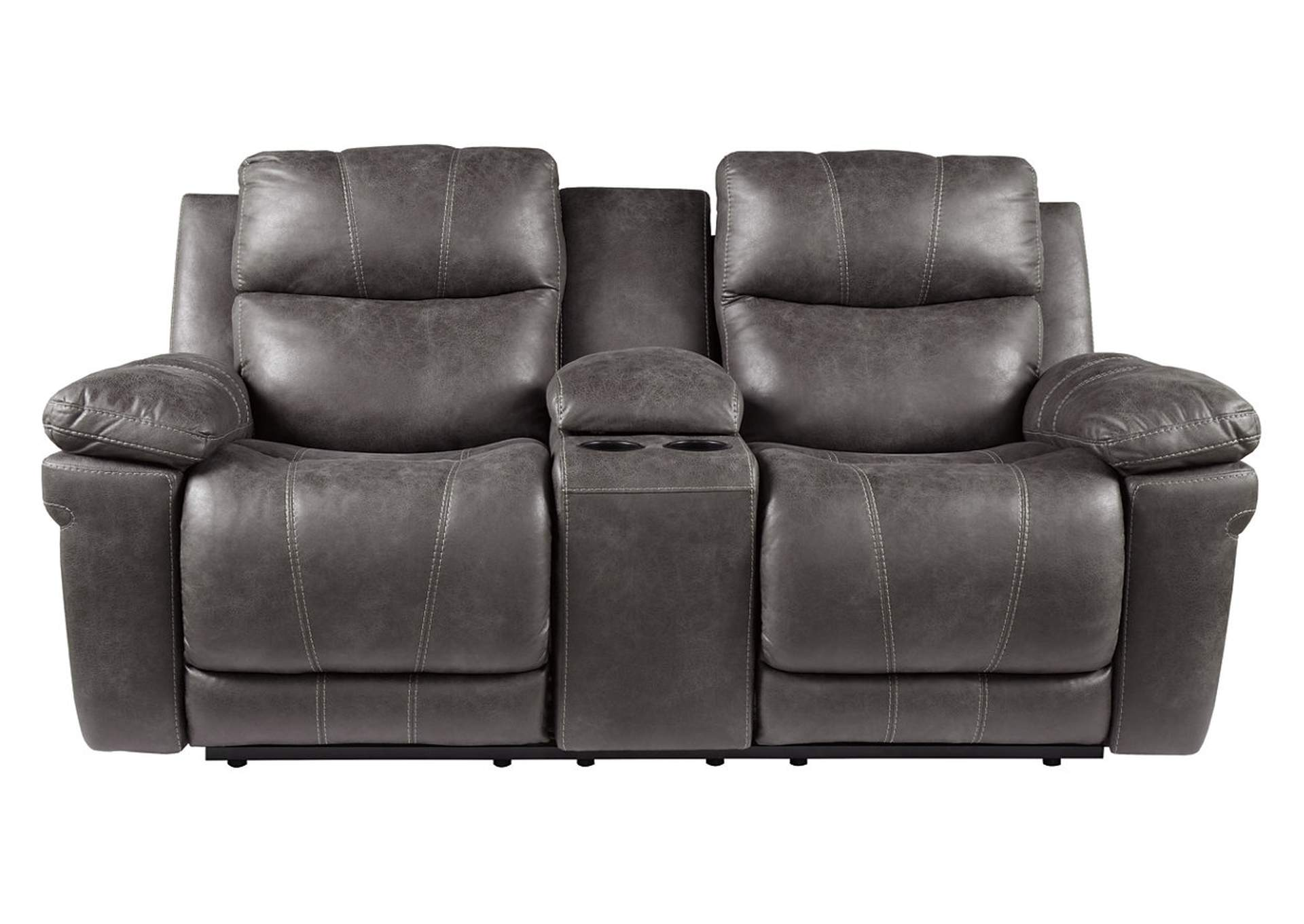 Erlangen Midnight Power Reclining Loveseat w/Adjustable Headrest,Signature Design By Ashley