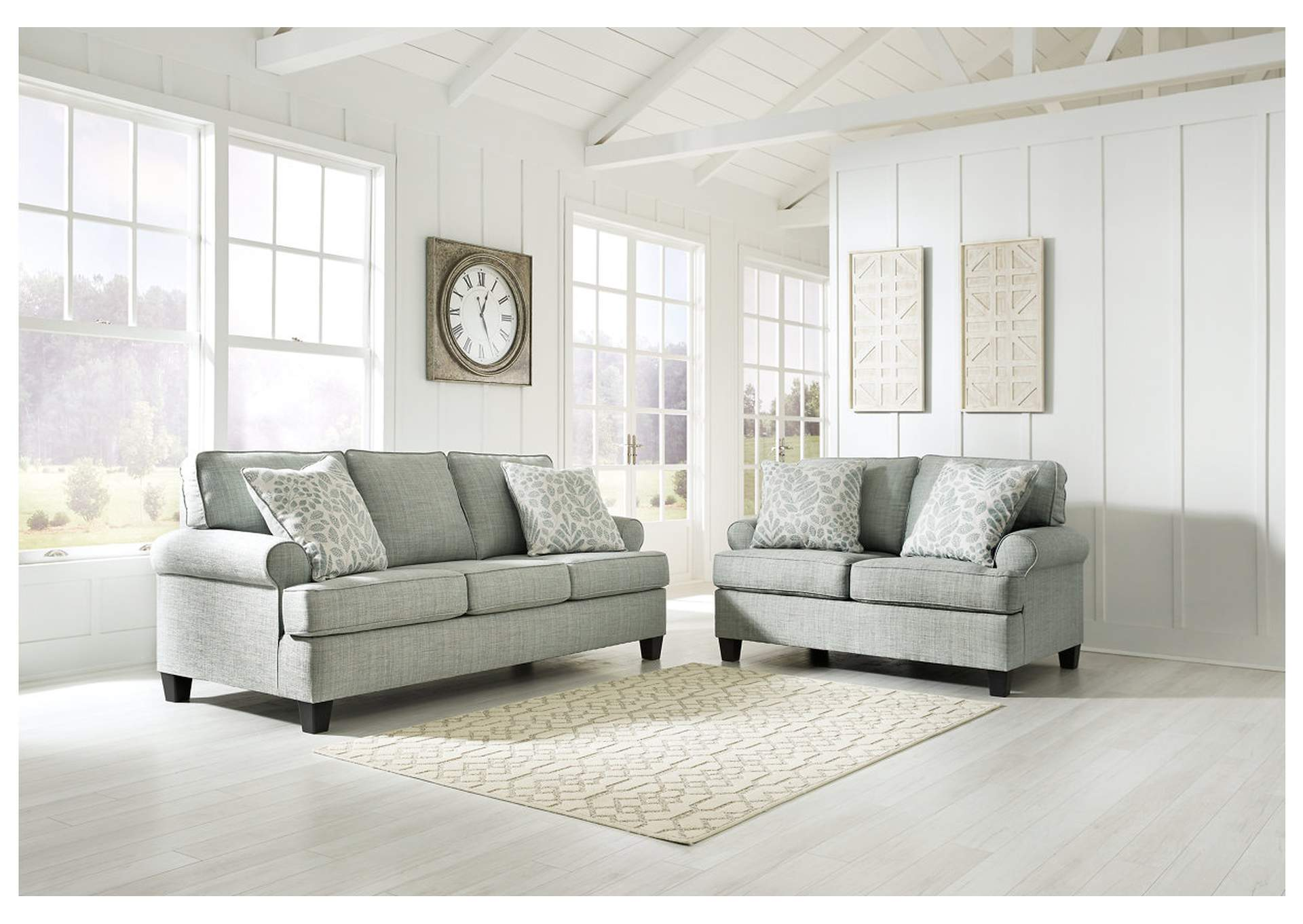 Kilarney Mist Sofa and Loveseat,Signature Design By Ashley