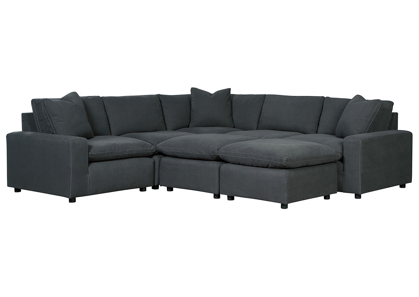 Savesto Charcoal 5 Piece Sectional,Signature Design By Ashley