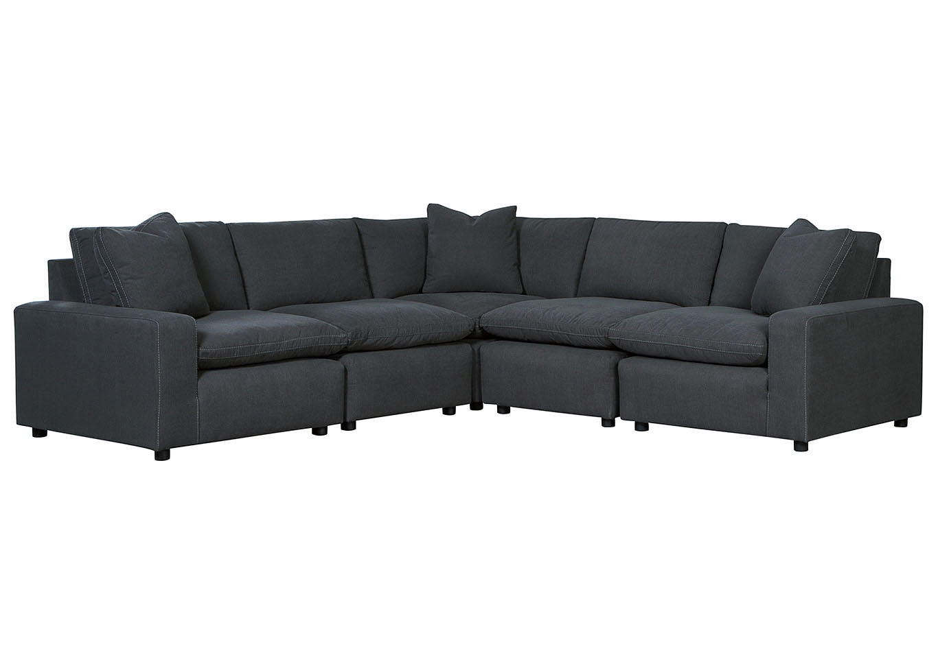 Savesto Charcoal 5 Piece Sectional