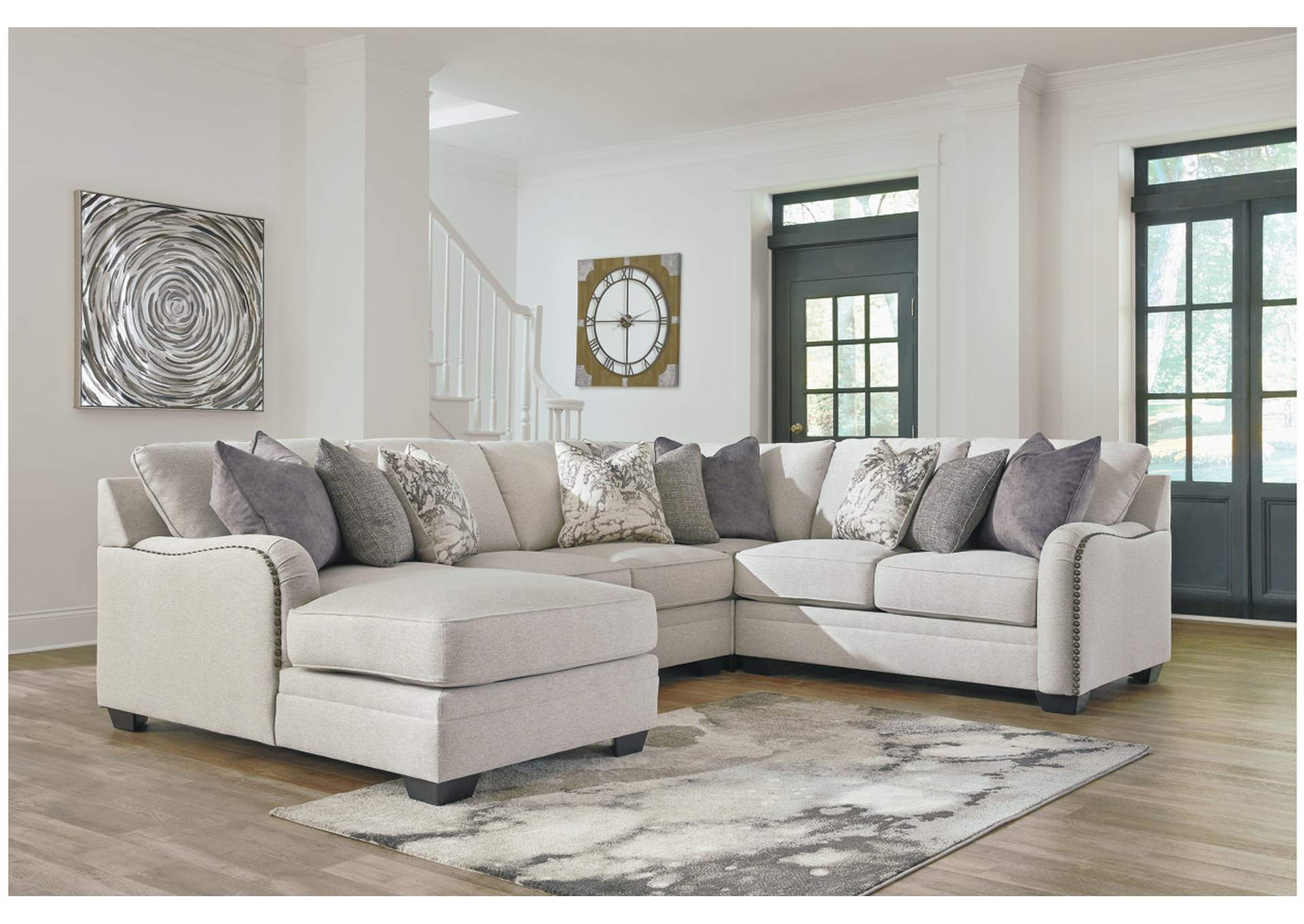 Dellara Chalk 4 Piece LAF Chaise Sectional,Benchcraft