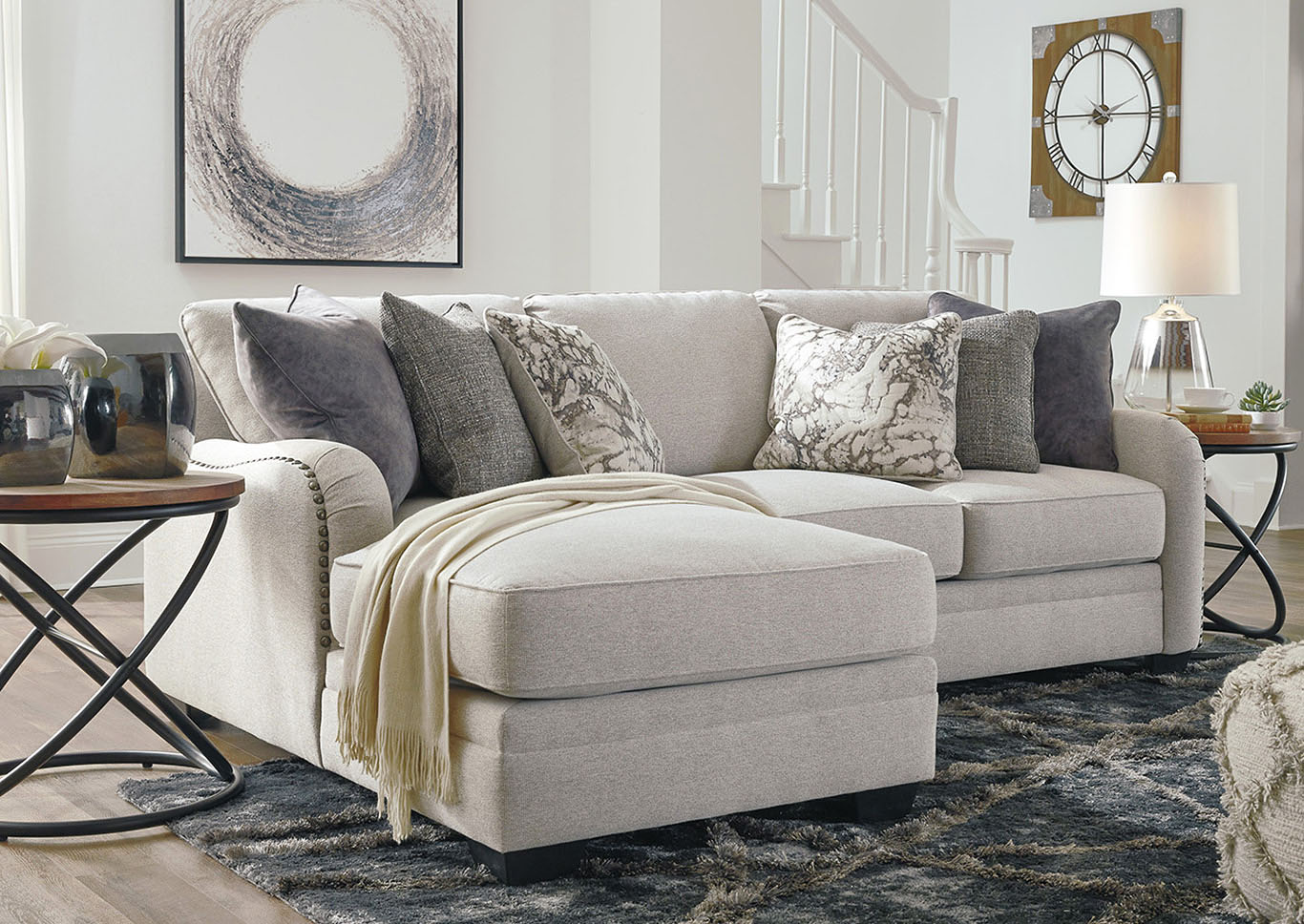 Dellara Chalk LAF Chaise Sectional,Benchcraft