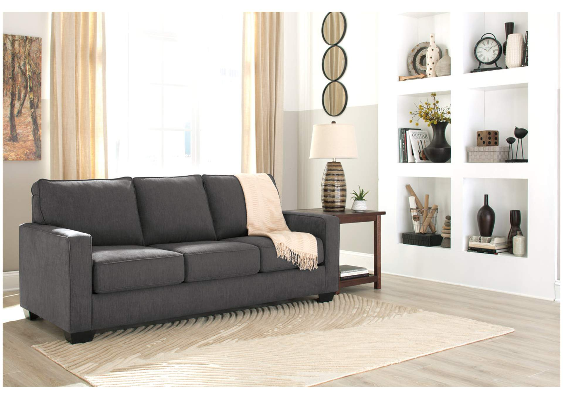 Zeb Charcoal Queen Sofa Sleeper,Signature Design By Ashley