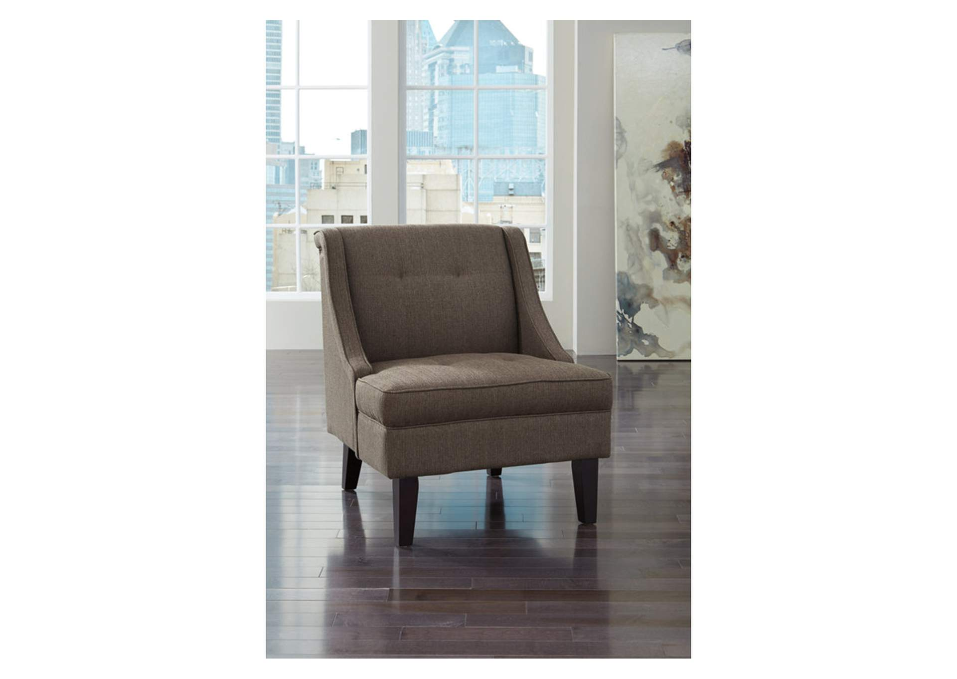 Clarinda Gray Accent Chair,Direct To Consumer Express