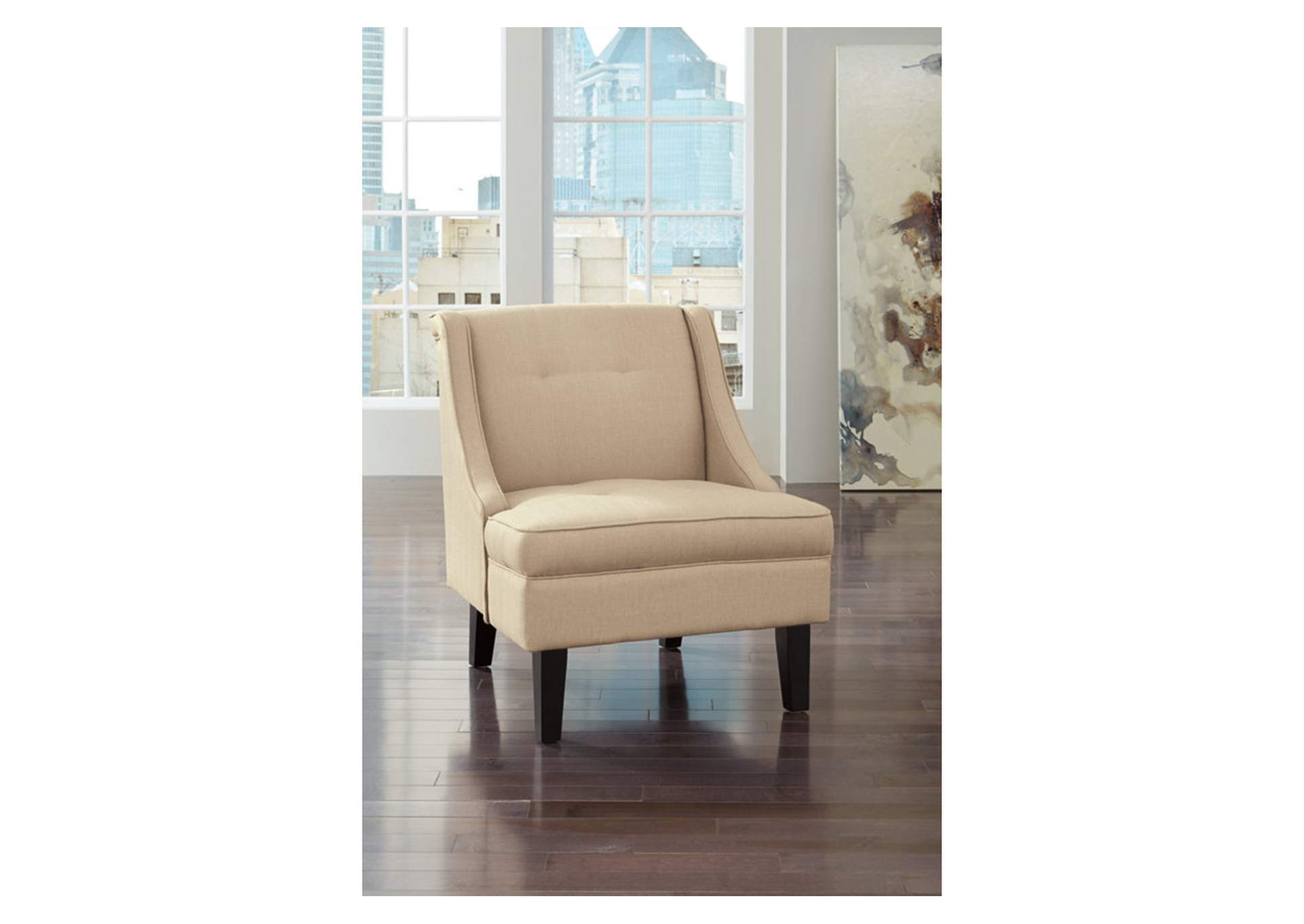 Clarinda Cream Accent Chair,Signature Design By Ashley