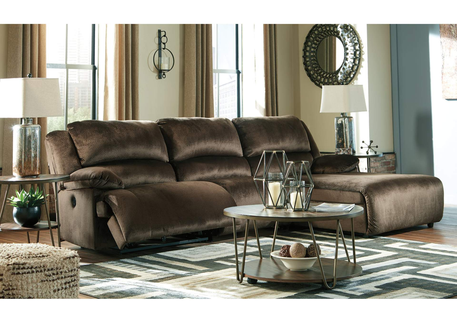 Clonmel 3 Piece Power Reclining Sectional with Chaise,Signature Design By Ashley