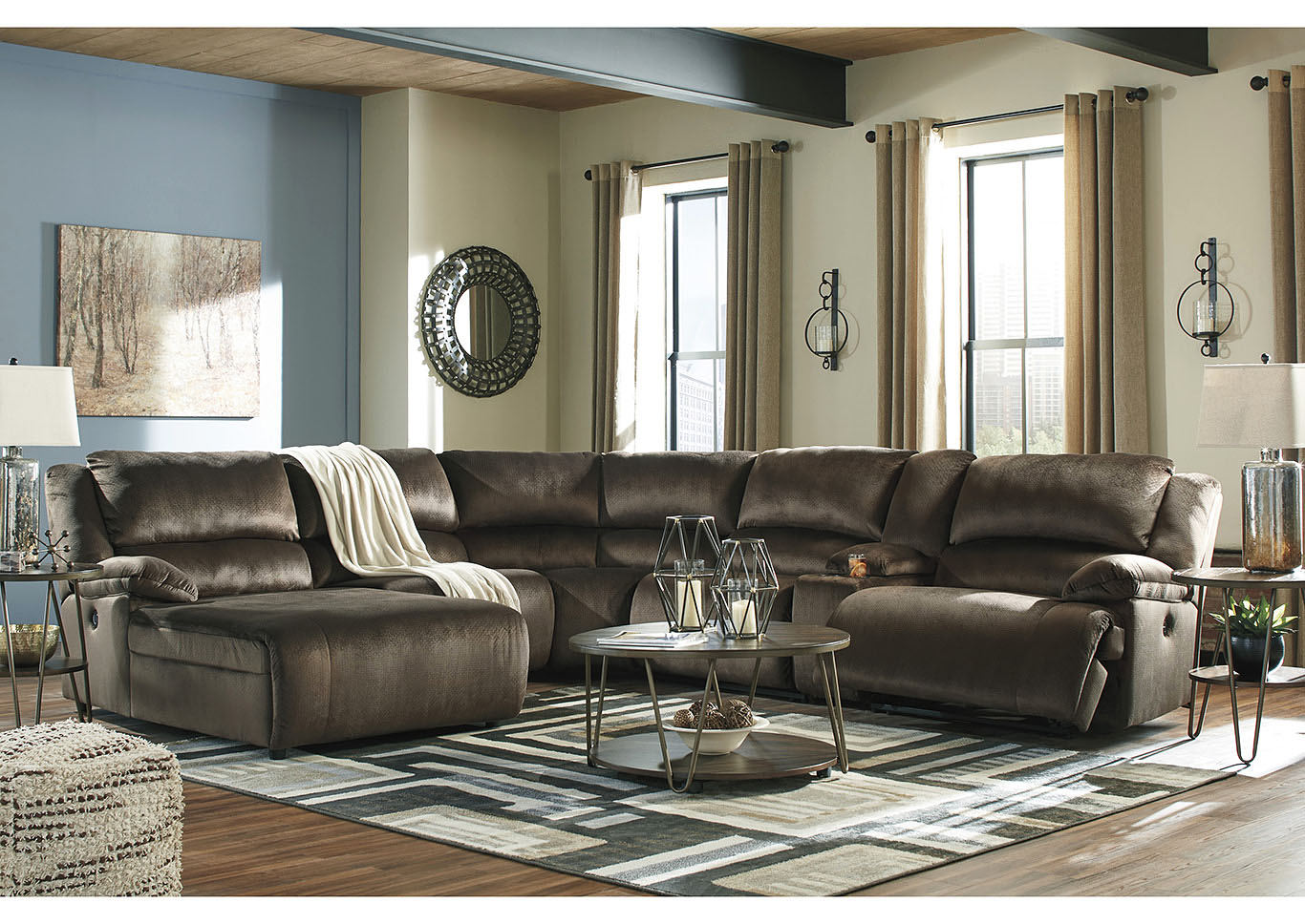 Clonmel 6 Piece Reclining Sectional with Chaise,Signature Design By Ashley