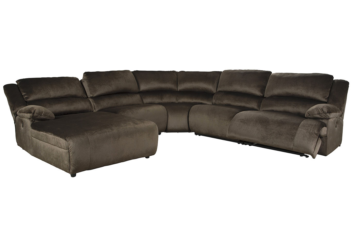 Clonmel 5 Piece Power Reclining Sectional with Chaise,Signature Design By Ashley