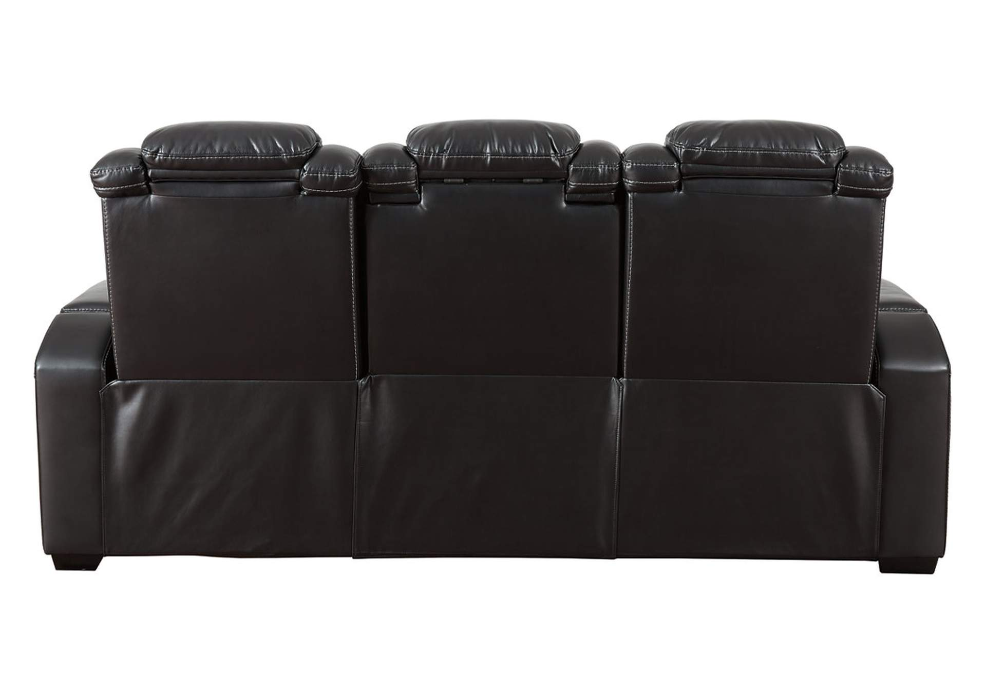 Party Time Midnight Power Reclining Sofa w/Adjustable Headrest,Signature Design By Ashley