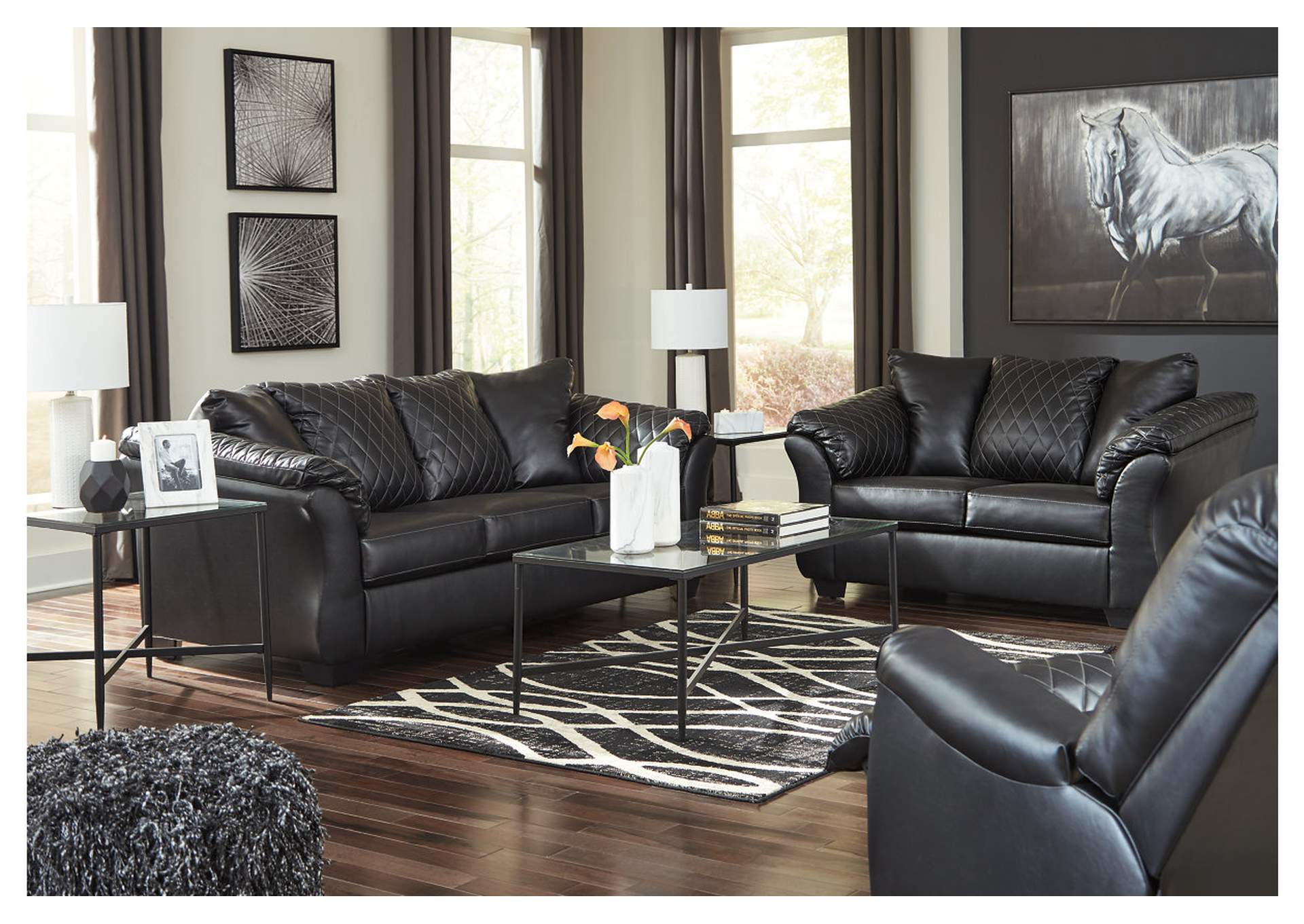Betrillo Black Full Sofa Sleeper,Signature Design By Ashley