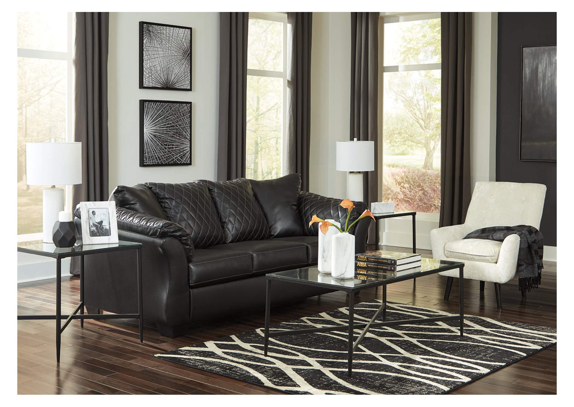 Bertrillo Black Sofa,Signature Design By Ashley