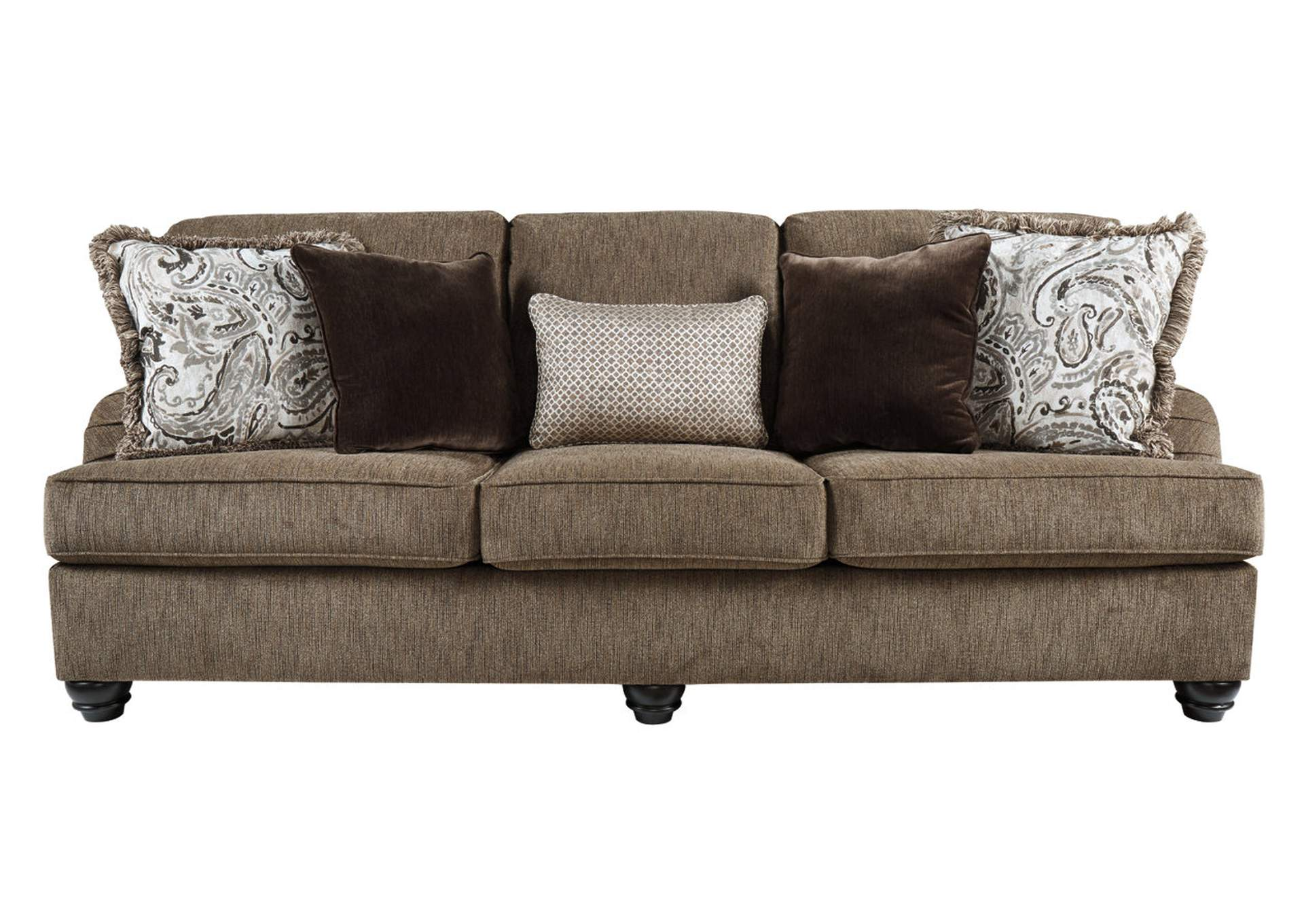 Braemar Brown Sofa w/5 Pillows,Signature Design By Ashley