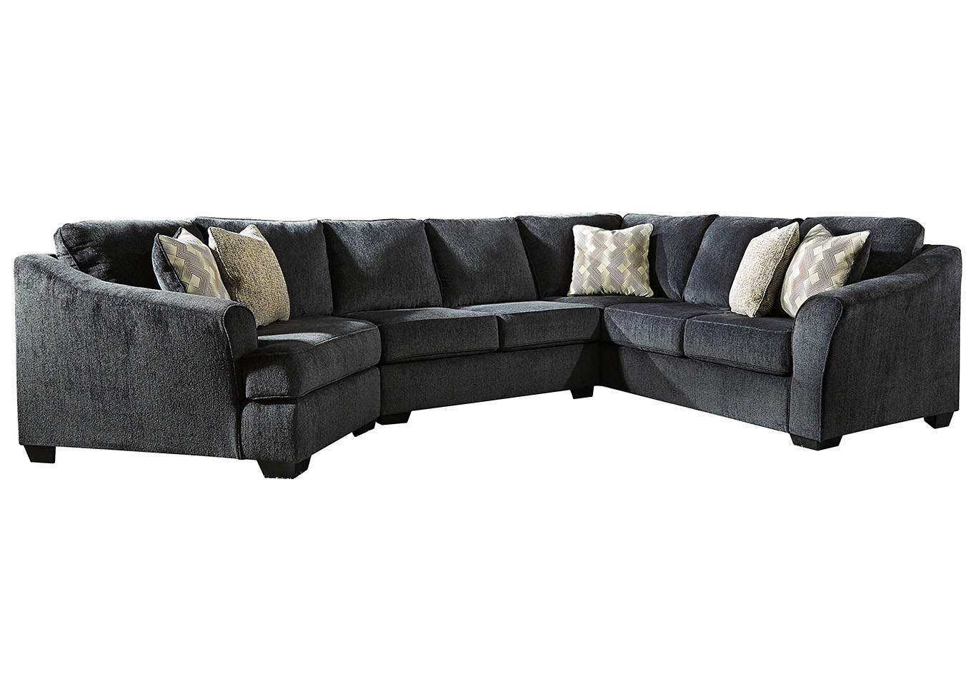 Eltmann Slate 3-Piece Sectional with Cuddler,Signature Design By Ashley