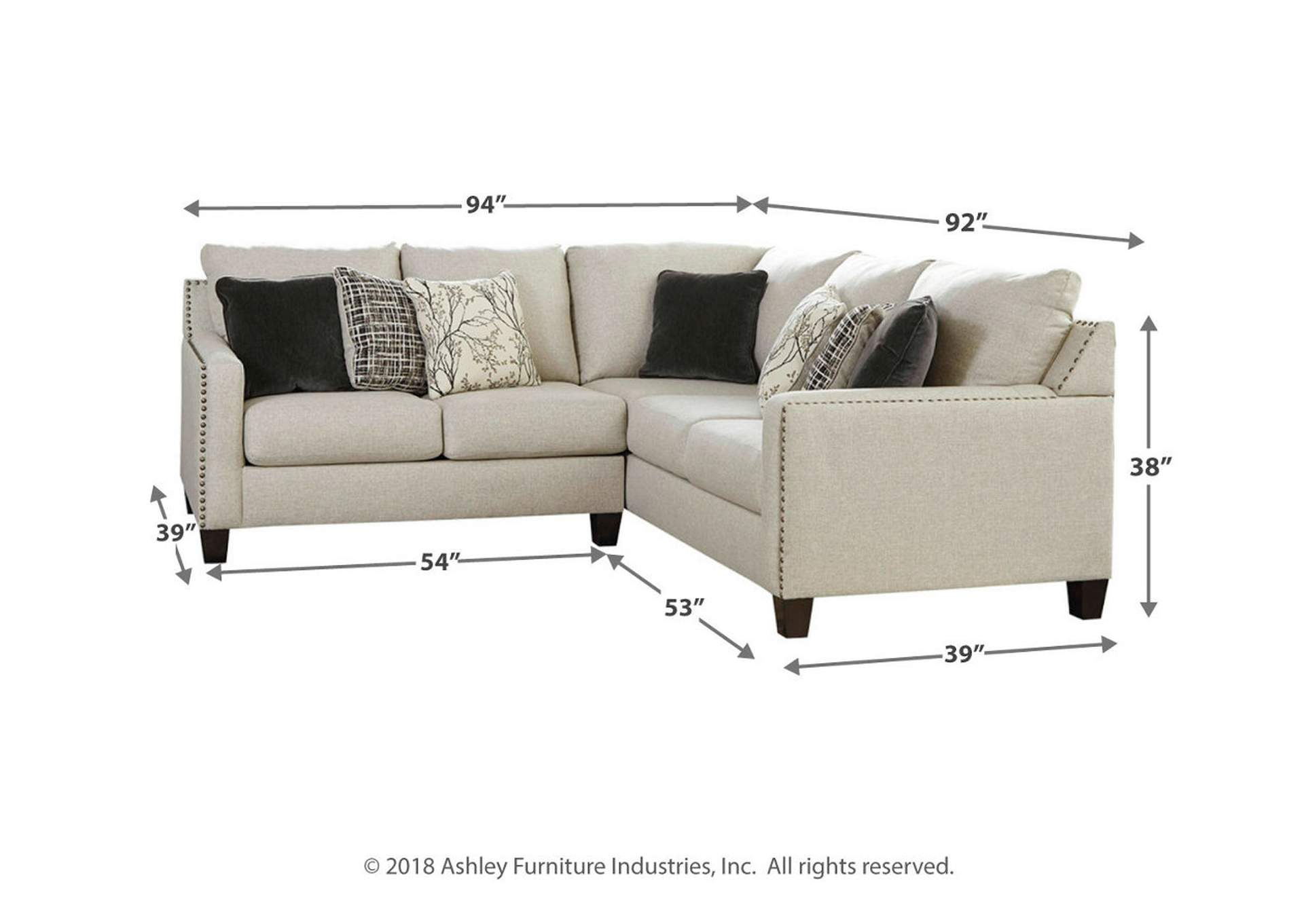 Hallenberg Fog LAF Chaise Sectional,Signature Design By Ashley