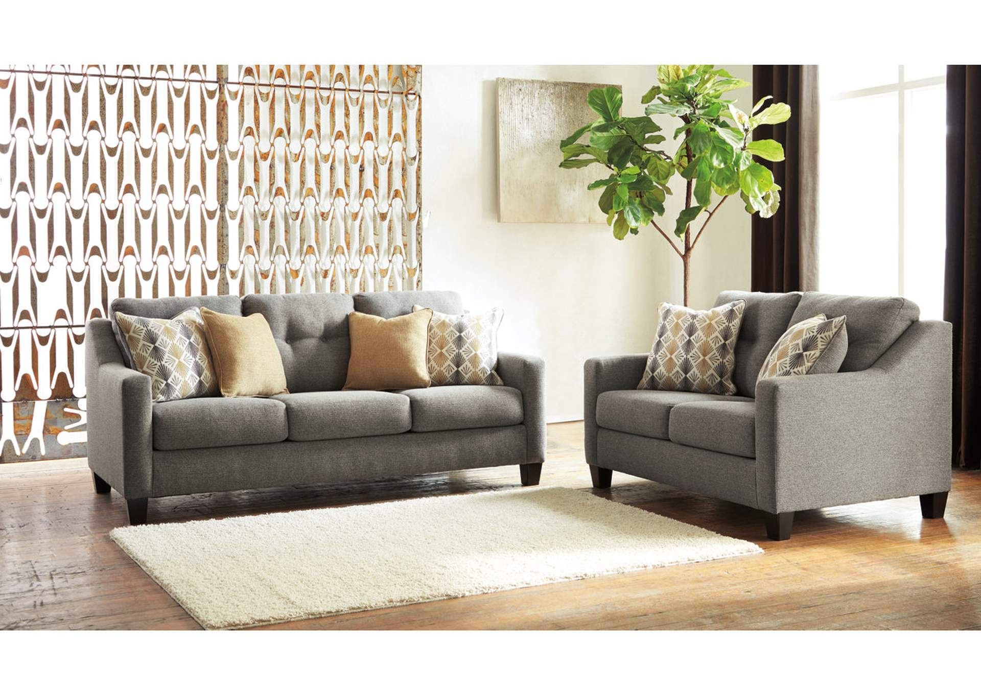 Daylon Graphite Sofa & Loveseat,Benchcraft