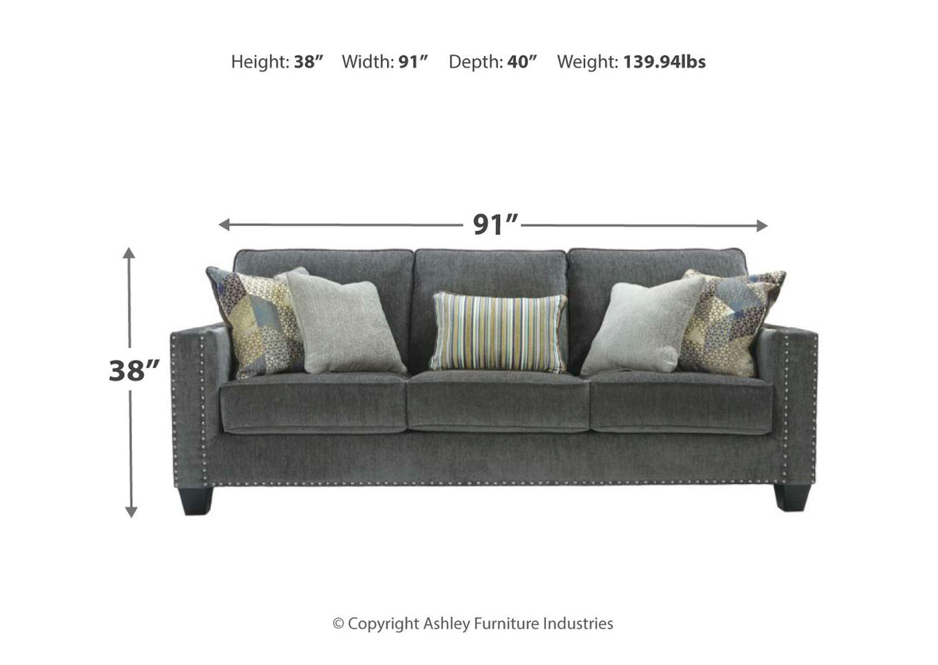 Gavril Smoke Sofa,Signature Design By Ashley