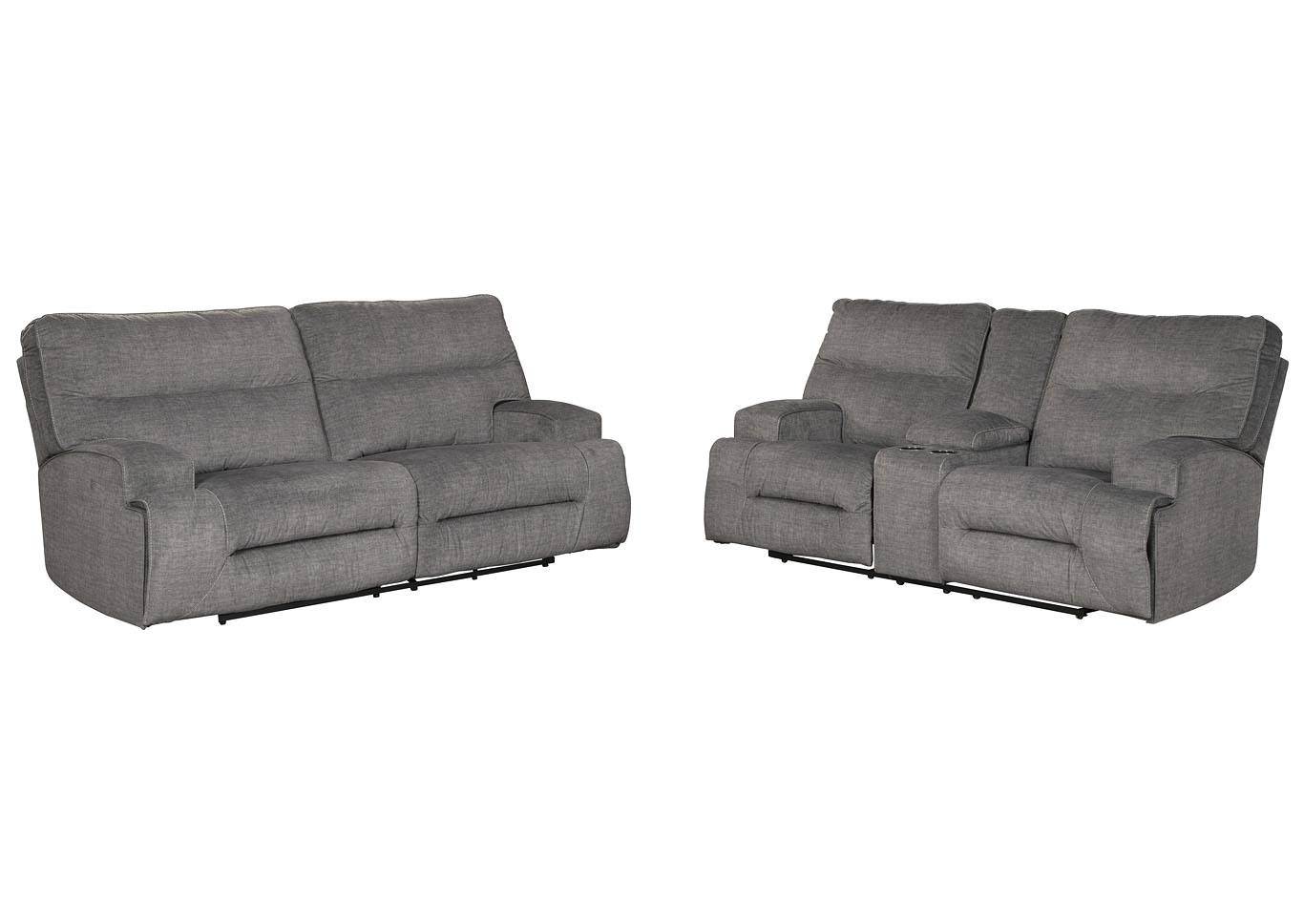 Coombs Charcoal Reclining Sofa And Loveseat Best Buy Furniture And Mattress
