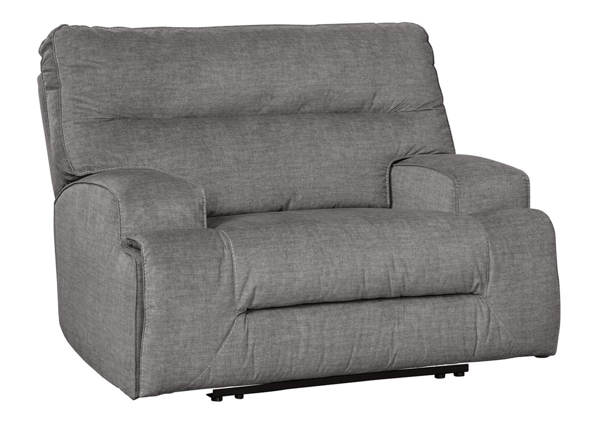 Coombs Charcoal Oversized Power Recliner Best Buy Furniture and