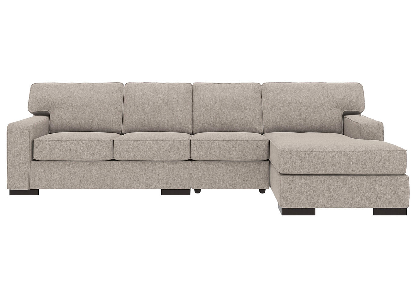 Ashlor Nuvella Slate RAF 3 Piece Chaise Sectional,Ashley