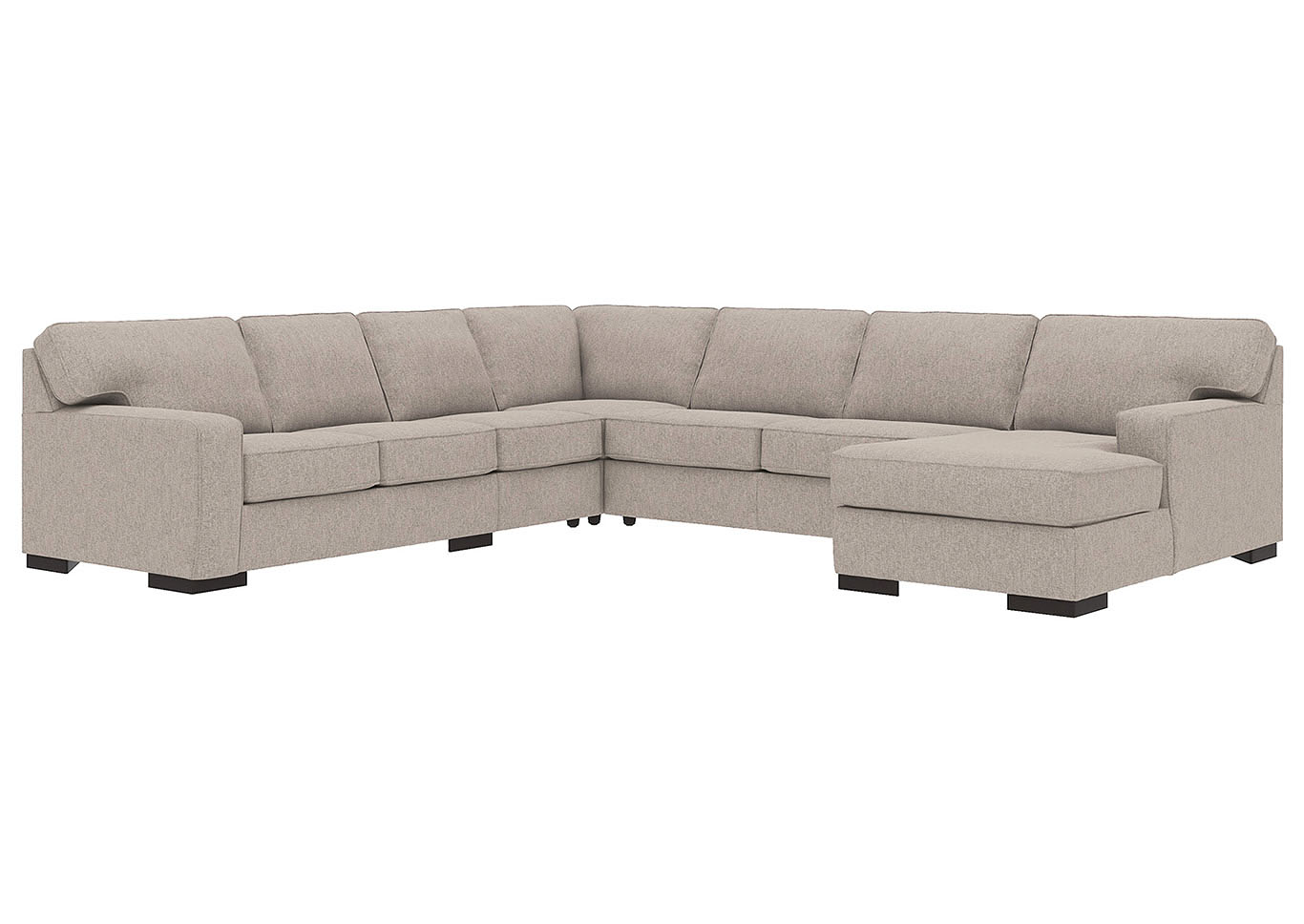 Ashlor Nuvella Slate RAF 5 Piece Chaise Sectional,Ashley