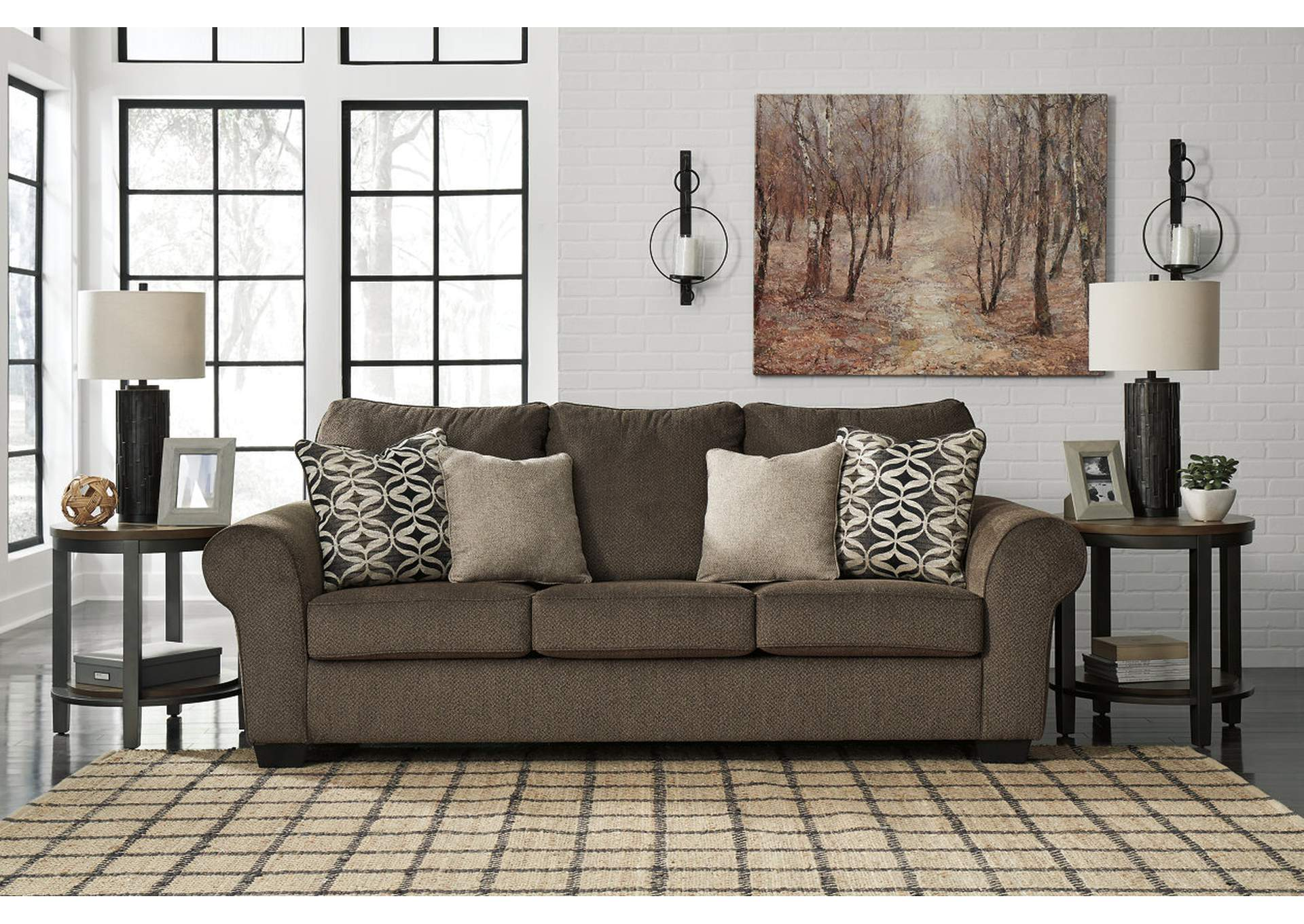 Nesso Walnut Queen Sofa Sleeper,Benchcraft