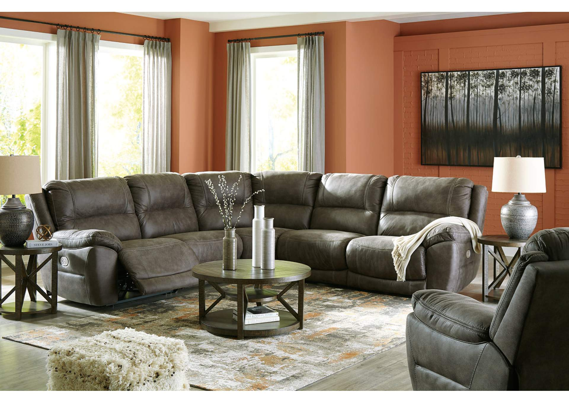 Cranedall 5-Piece Power Reclining Sectional,Signature Design By Ashley