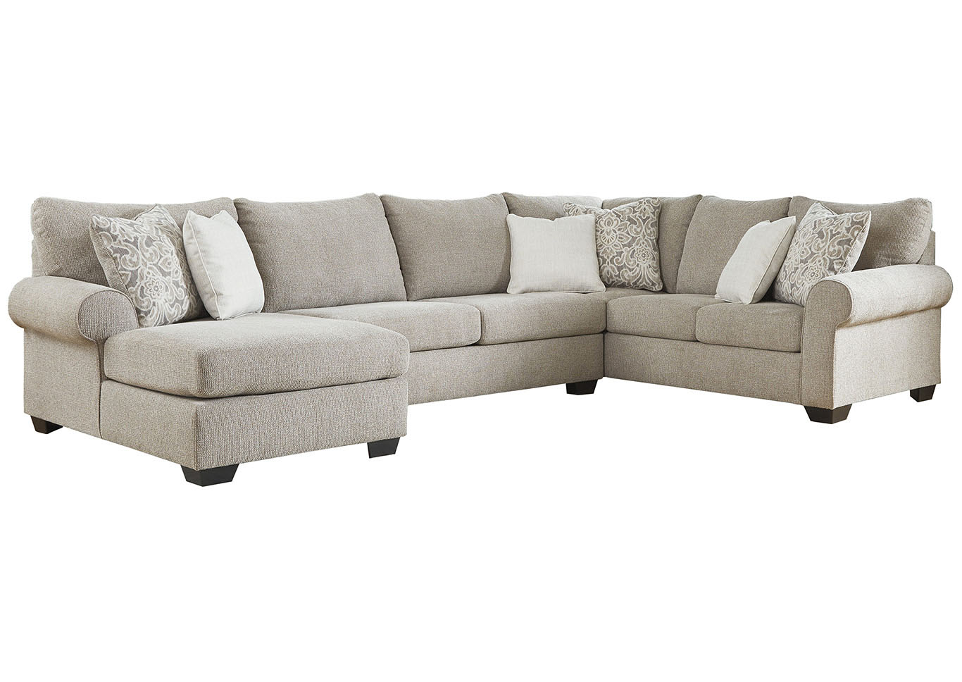 Baranello Stone LAF Chaise End Sectional,Benchcraft