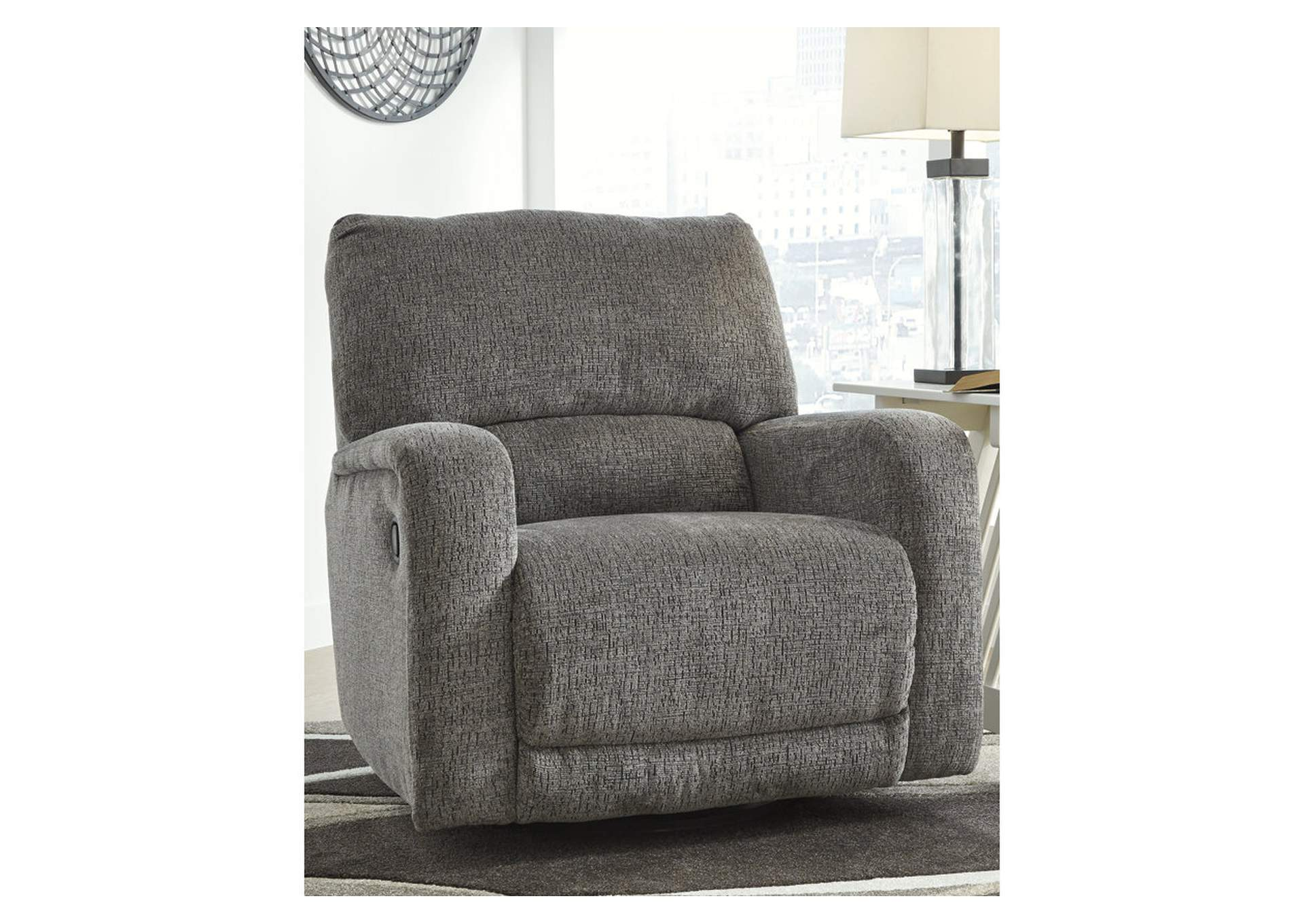 Wittlich Slate Swivel Glider Recliner,Signature Design By Ashley