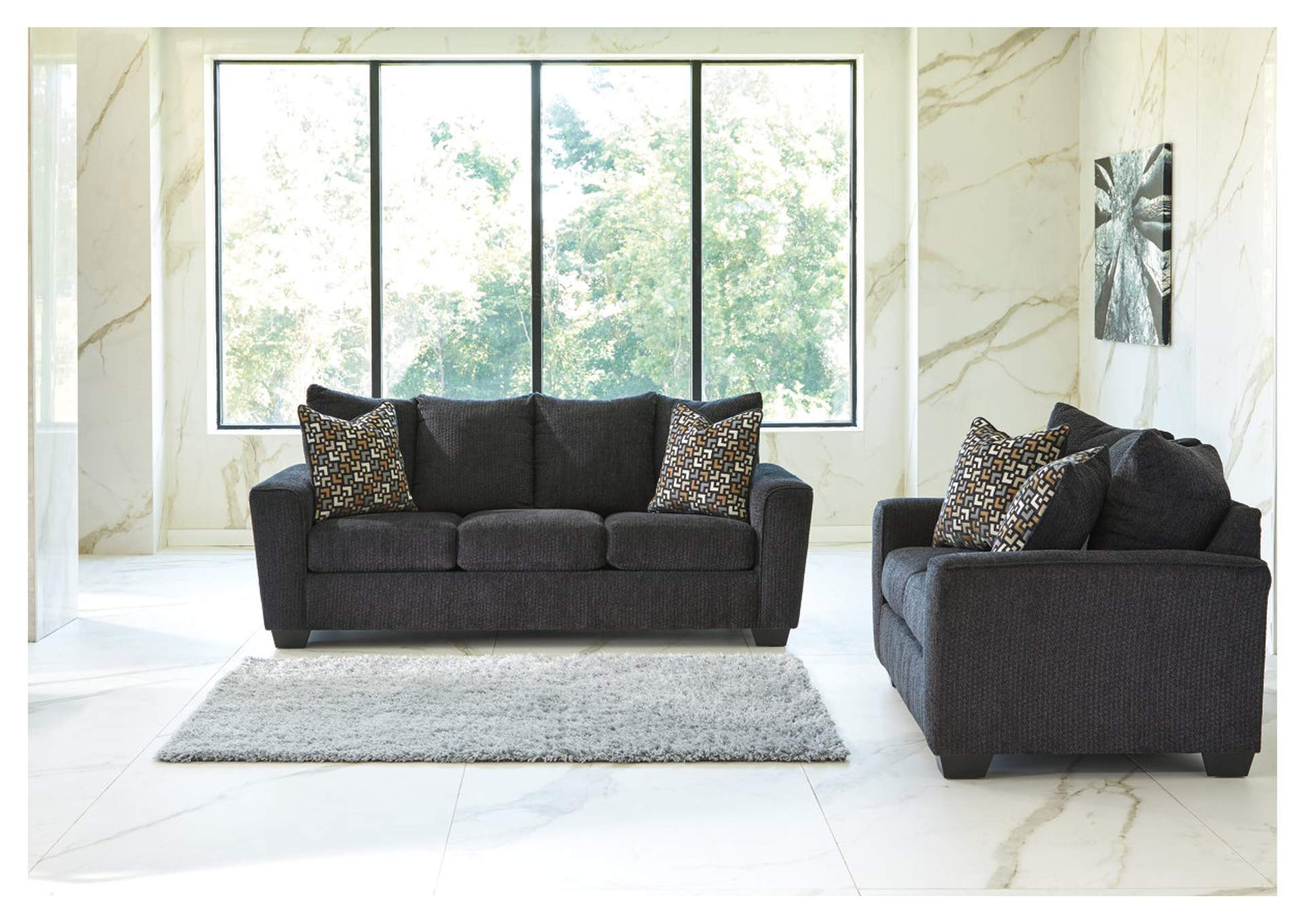 Wixon Slate Sofa and Loveseat,Benchcraft