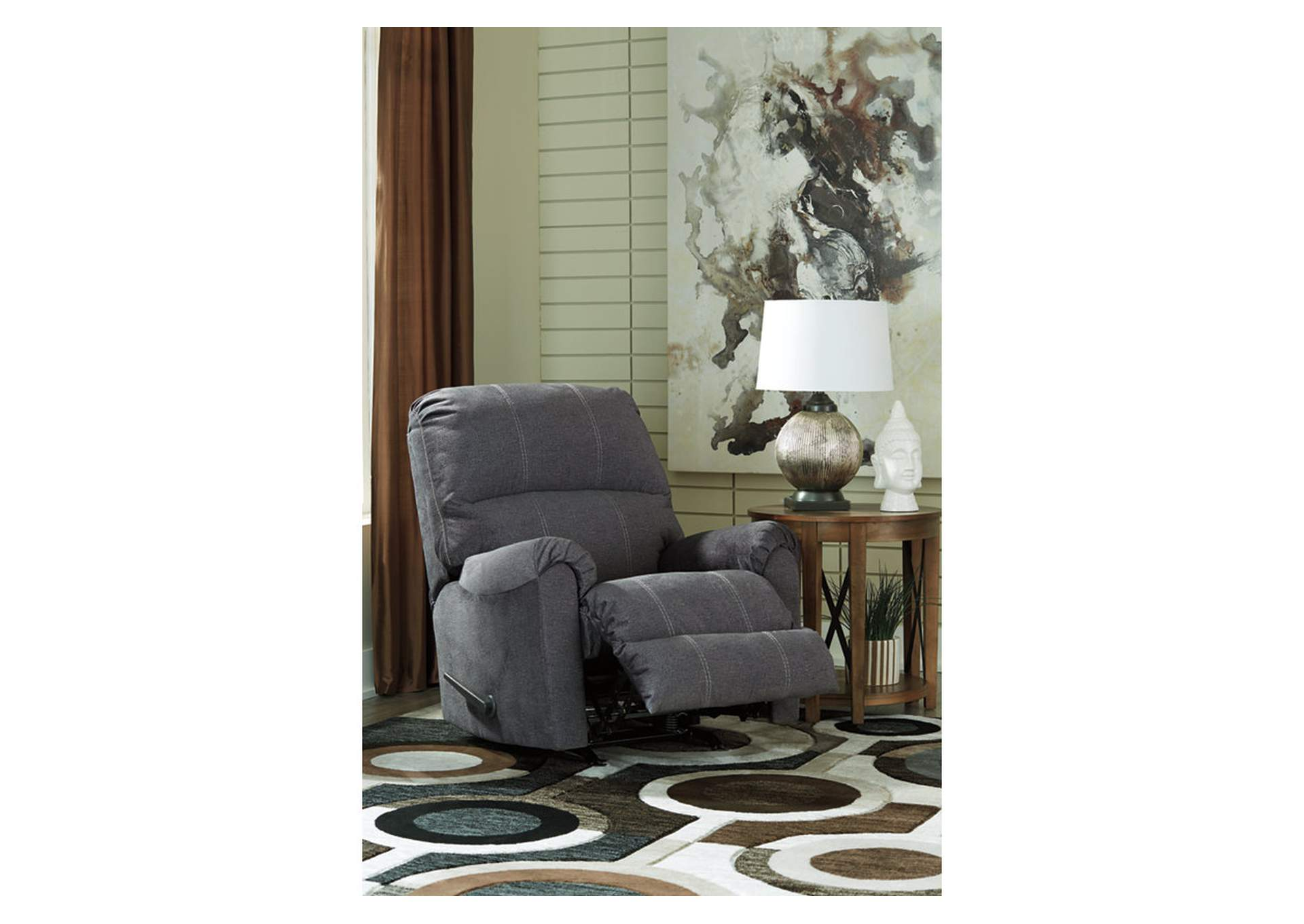 Urbino Charcoal Rocker Recliner,Signature Design By Ashley