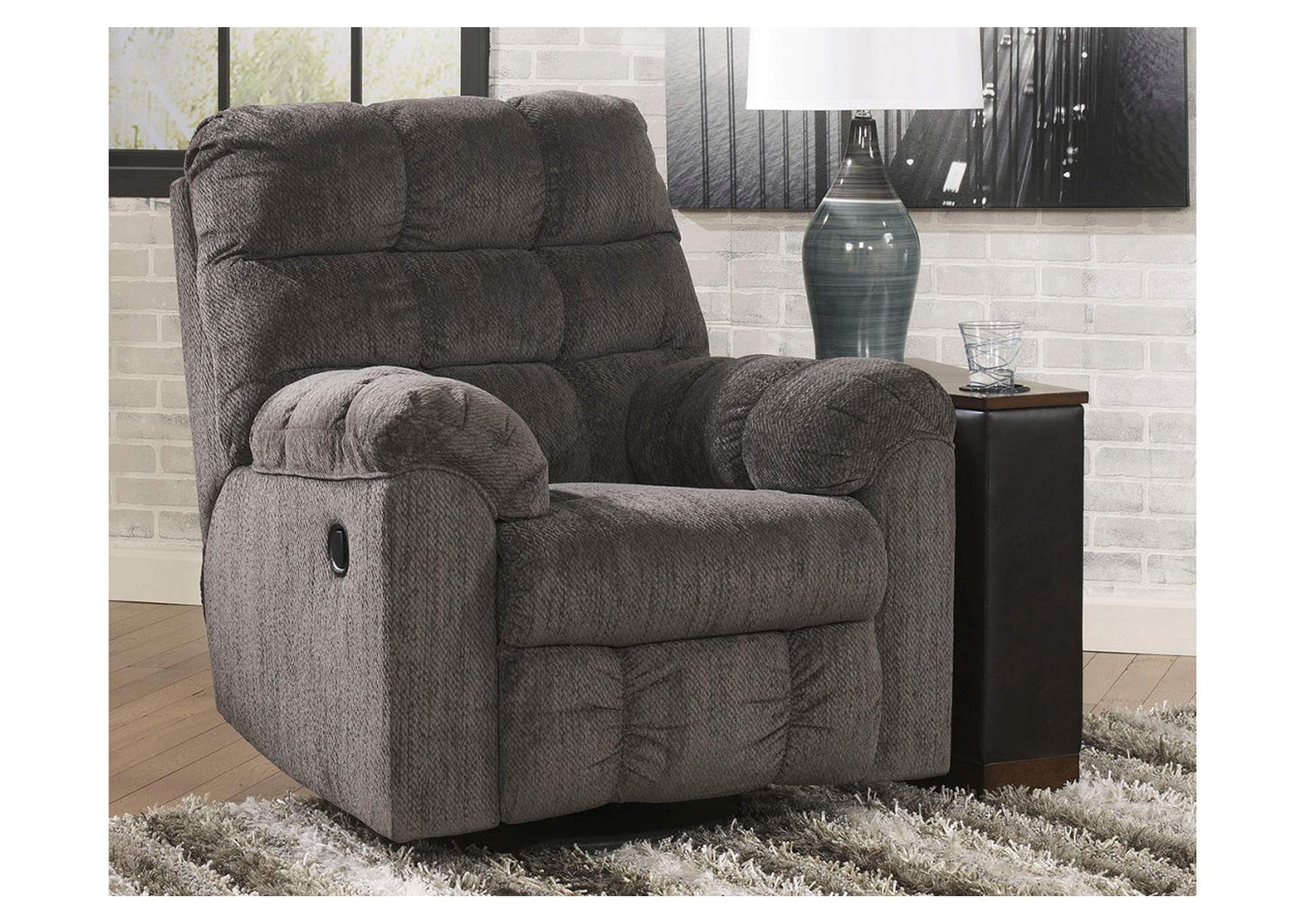 Acieona Slate Swivel Rocker Recliner,Signature Design By Ashley
