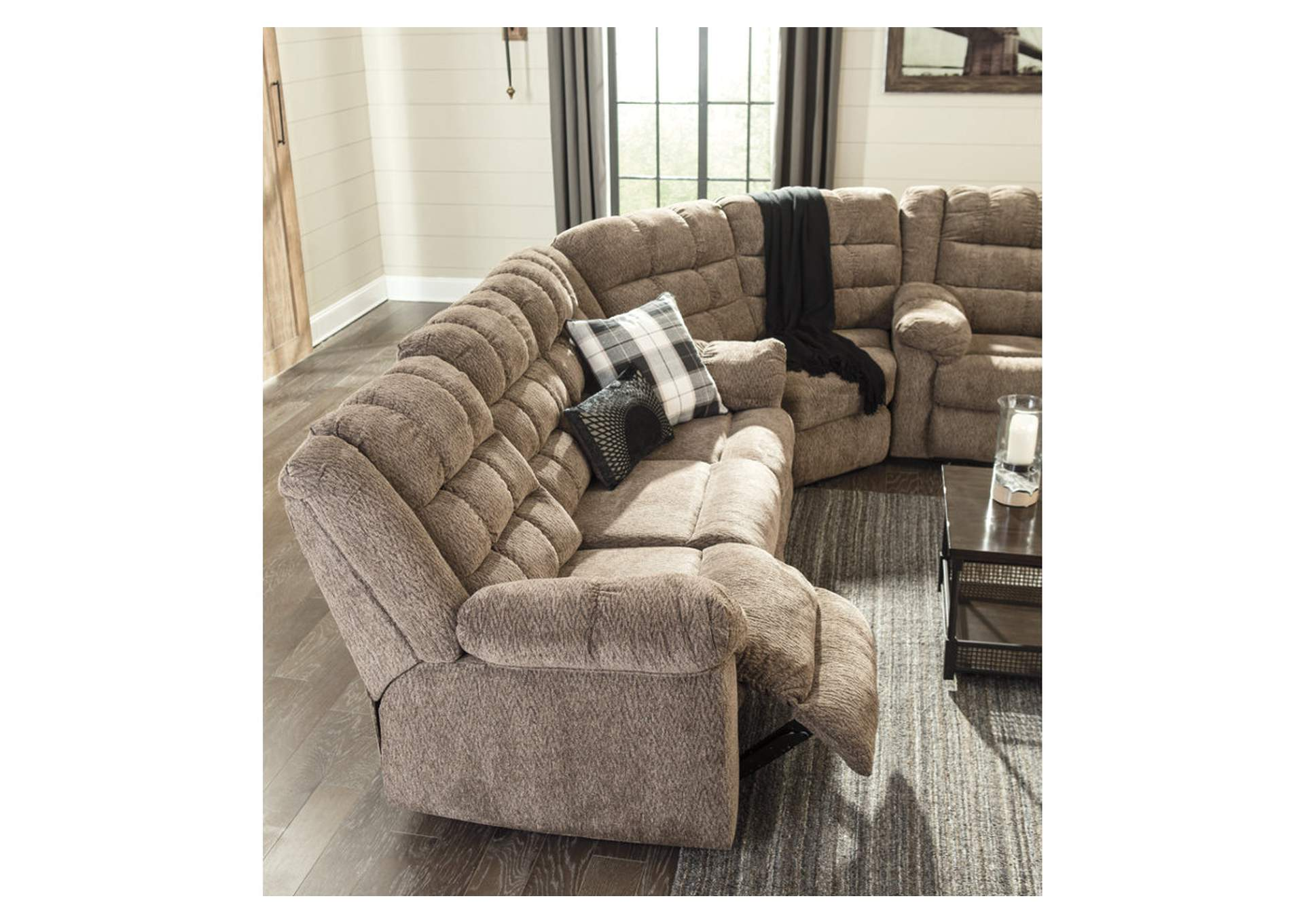 Workhorse Cocoa Reclining Sofa,Signature Design By Ashley