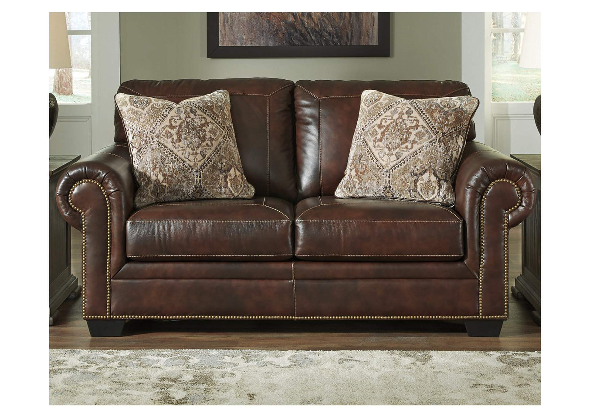 Roleson Walnut Loveseat,Signature Design By Ashley