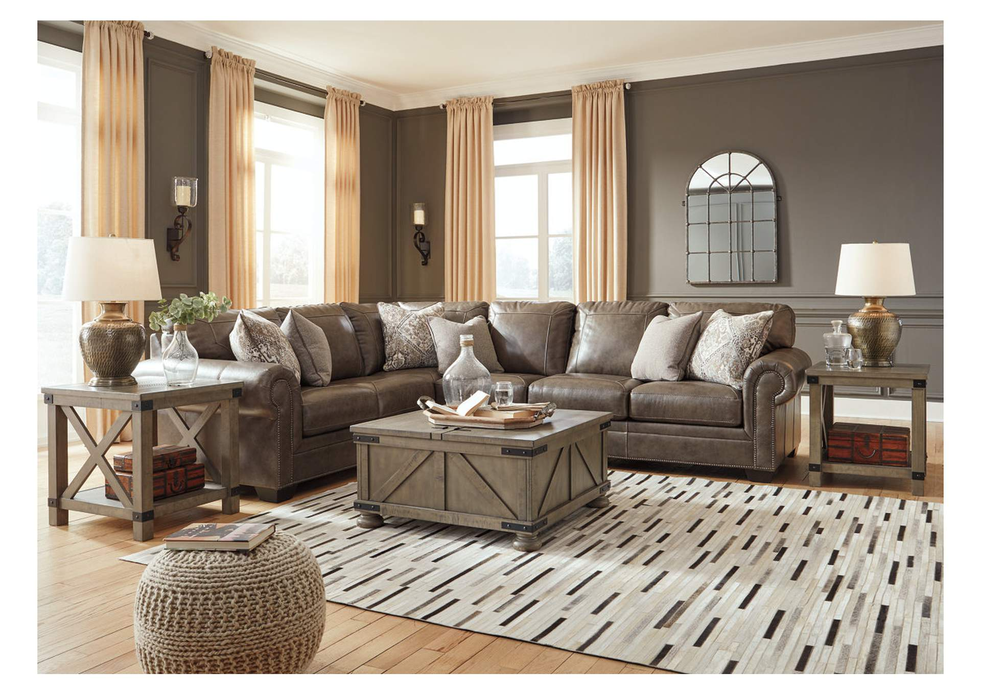 Roleson Quarry RAF Chaise Sectional,Signature Design By Ashley