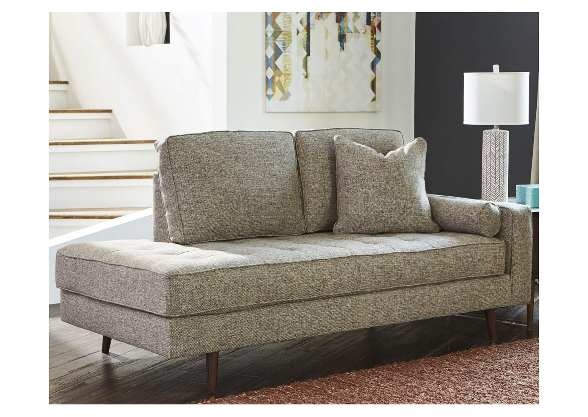 Dahra Jute Right Facing Corner Chaise,Benchcraft