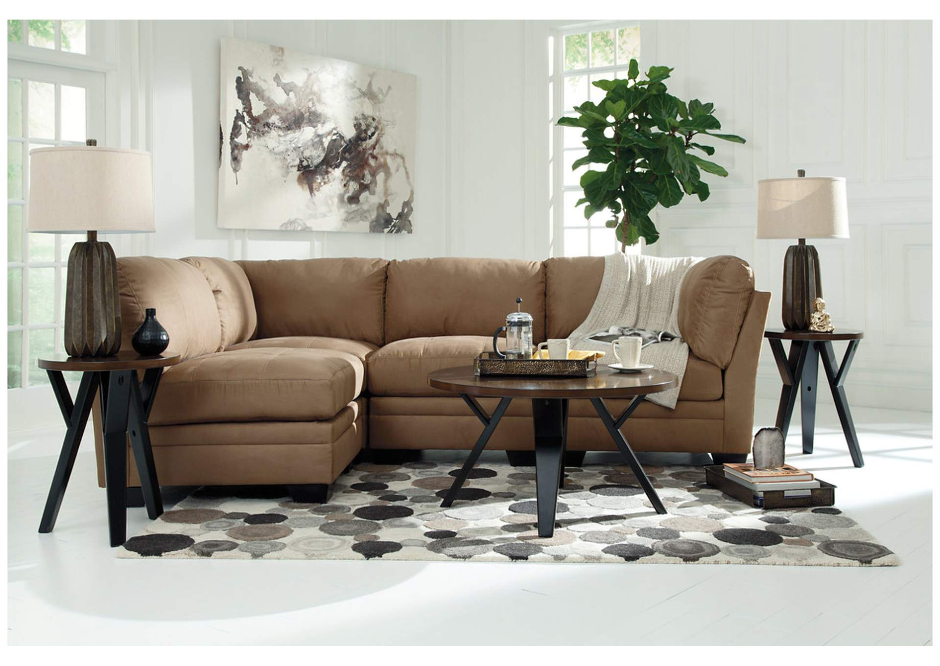 Ingel Two-Tone Brown Occasional Table Set (Cocktail & 2 Ends),Signature Design By Ashley