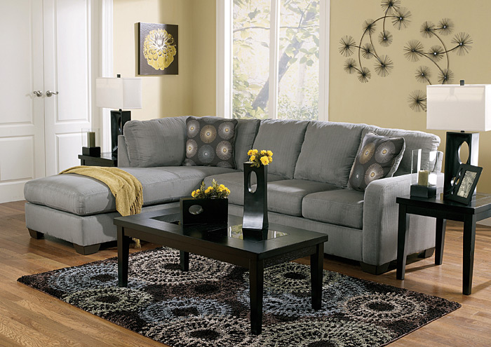Zella Charcoal LAF Chaise Sectional,Signature Design By Ashley