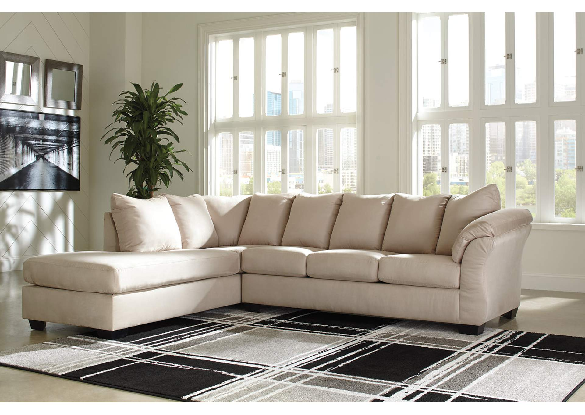 Darcy Stone LAF Chaise Sectional,Signature Design By Ashley