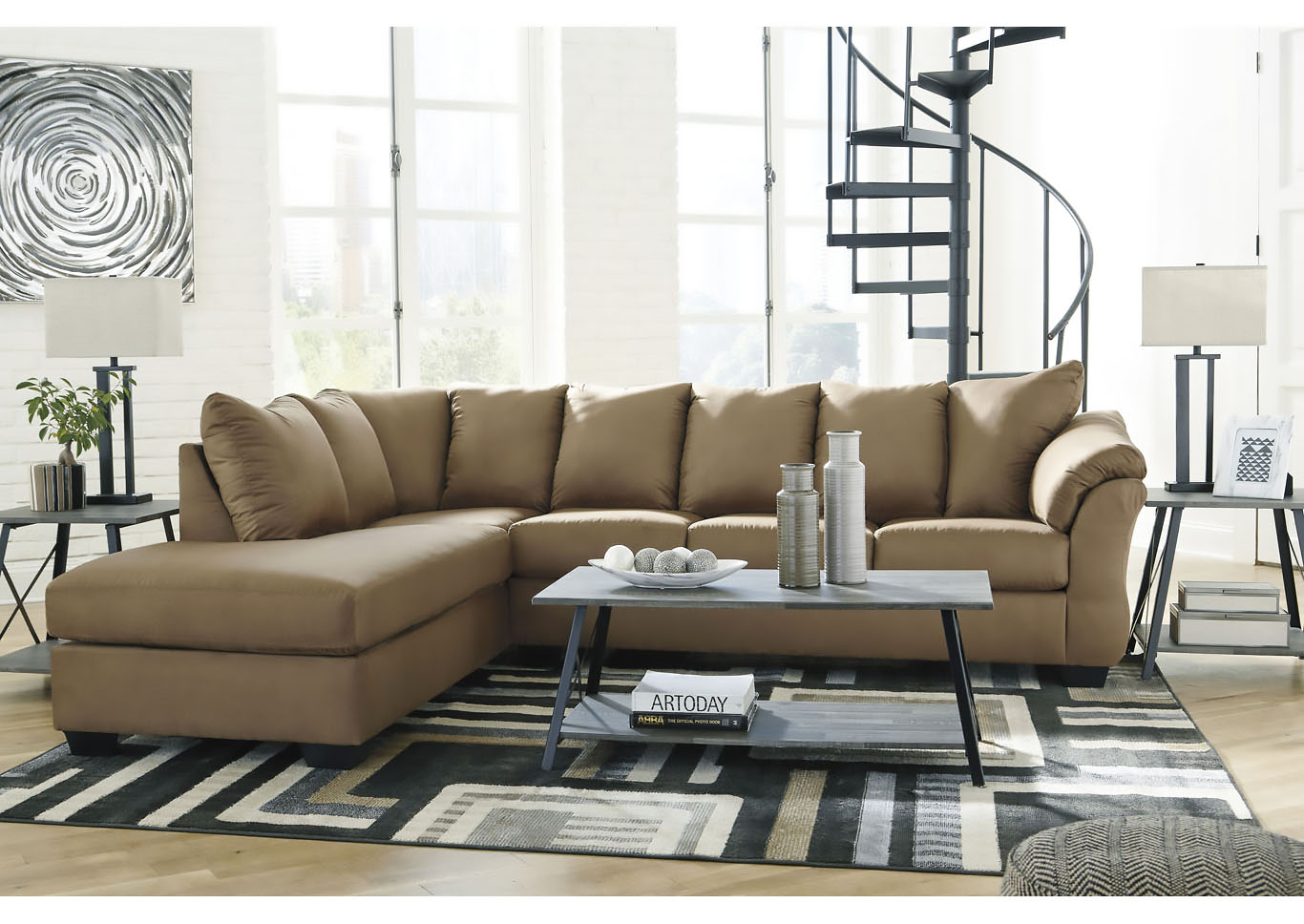 Darcy Mocha LAF Chaise Sectional,Signature Design By Ashley